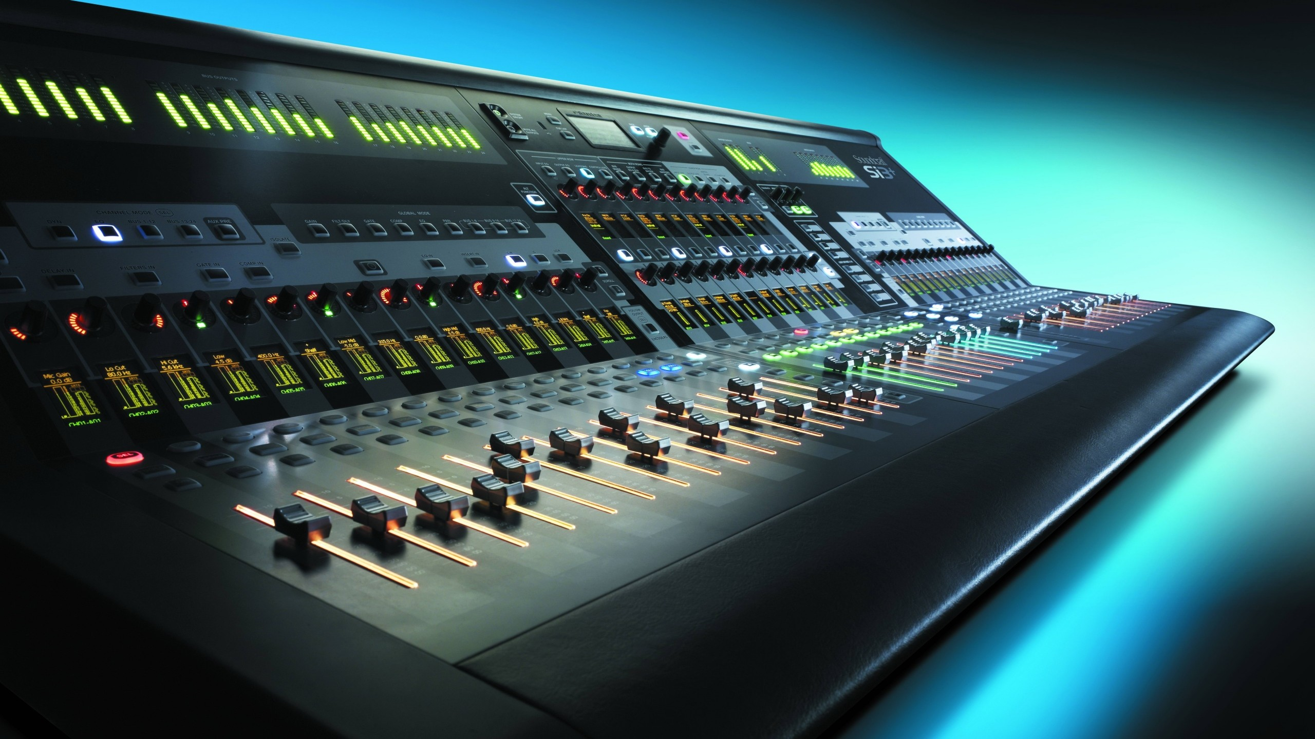 Preview wallpaper control, mixer, audio, equalizer, music 2560×1440