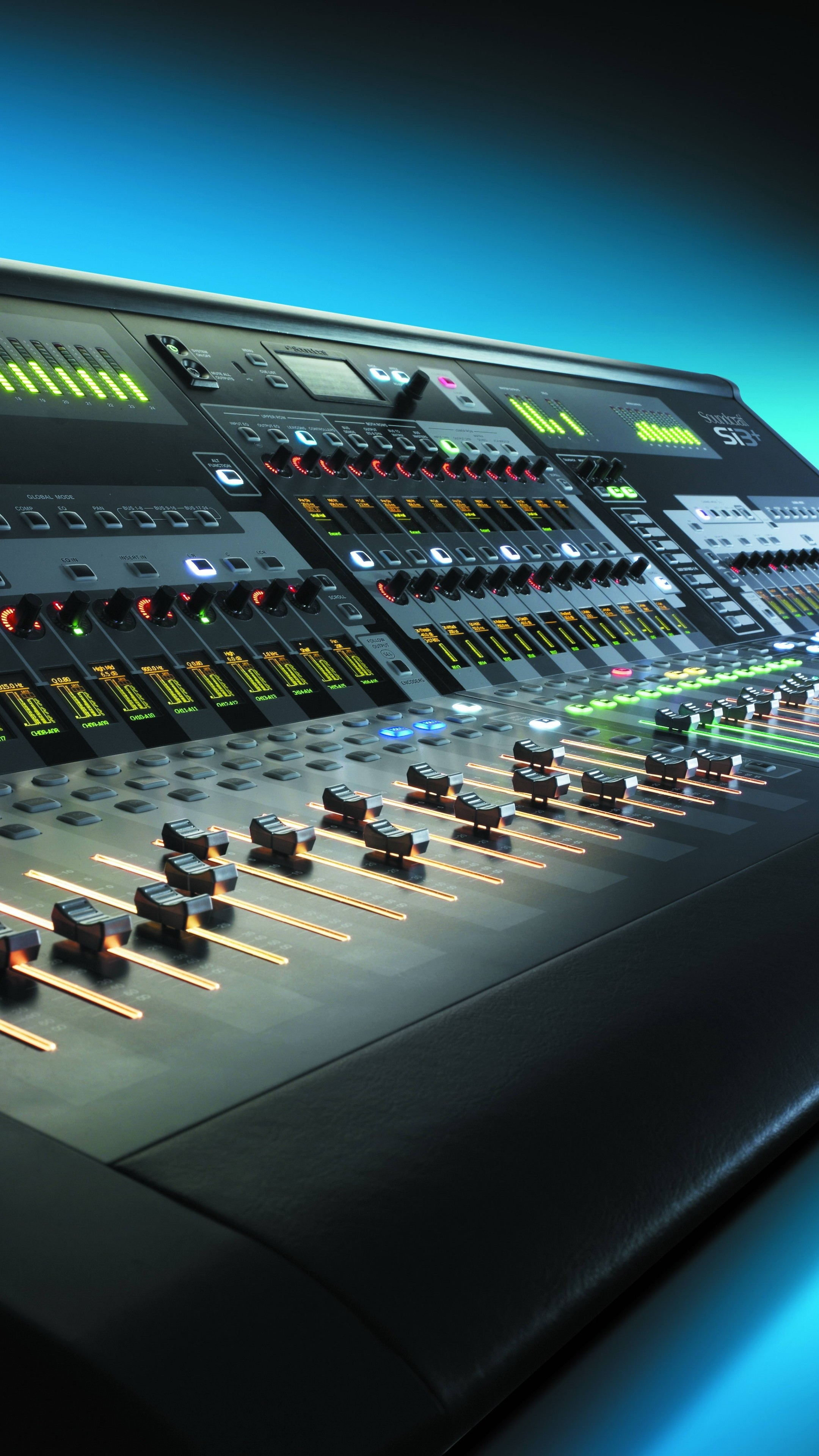 Preview wallpaper control, mixer, audio, equalizer, music 2160×3840