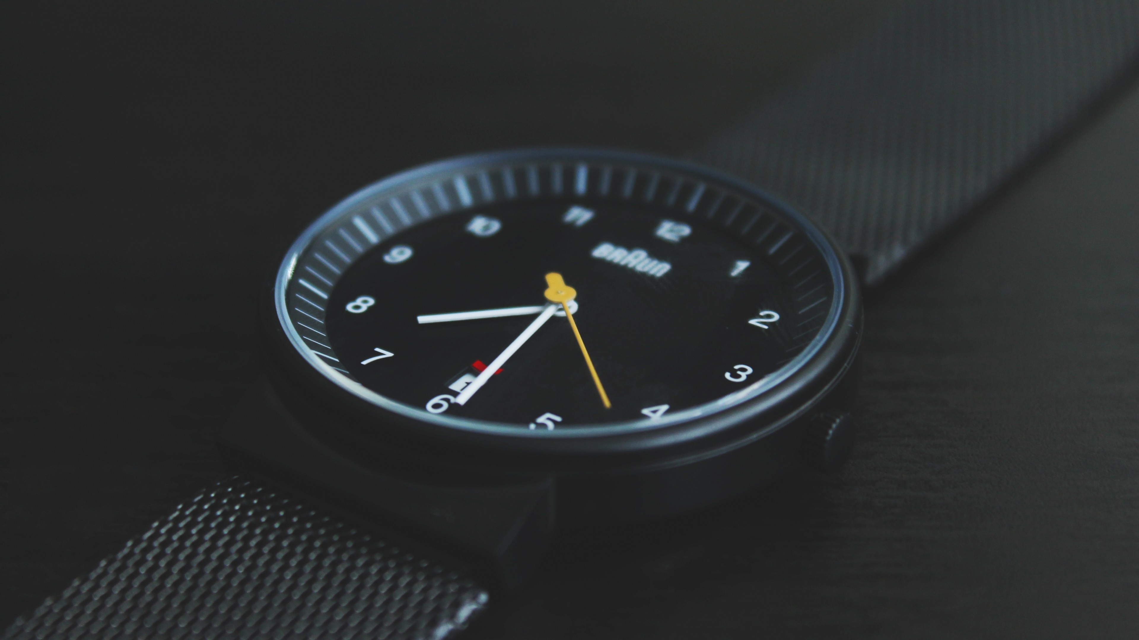 Preview wallpaper wrist watch, dial, style, strap 3840×2160