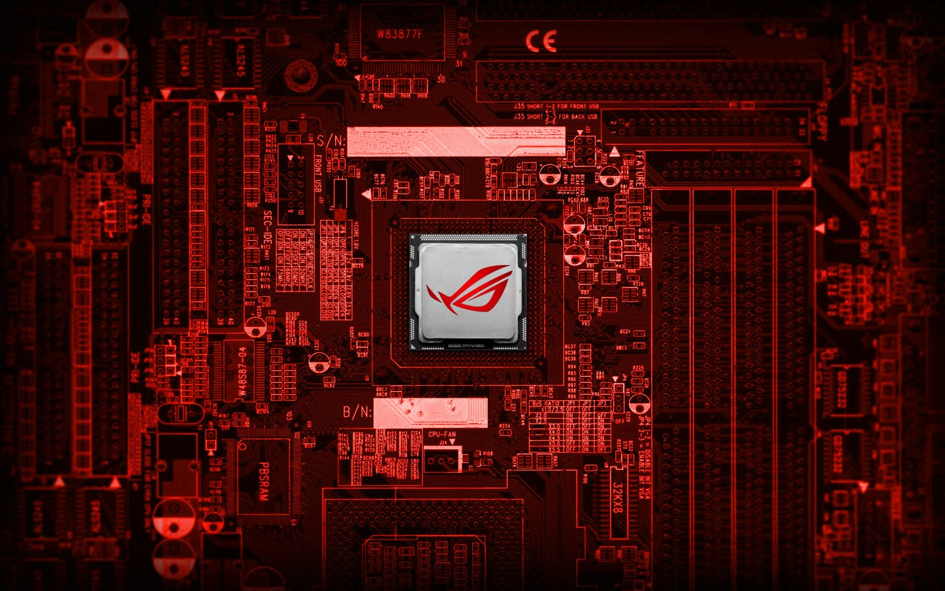 Technology – Asus Computer Technology Red Motherboard Wallpaper