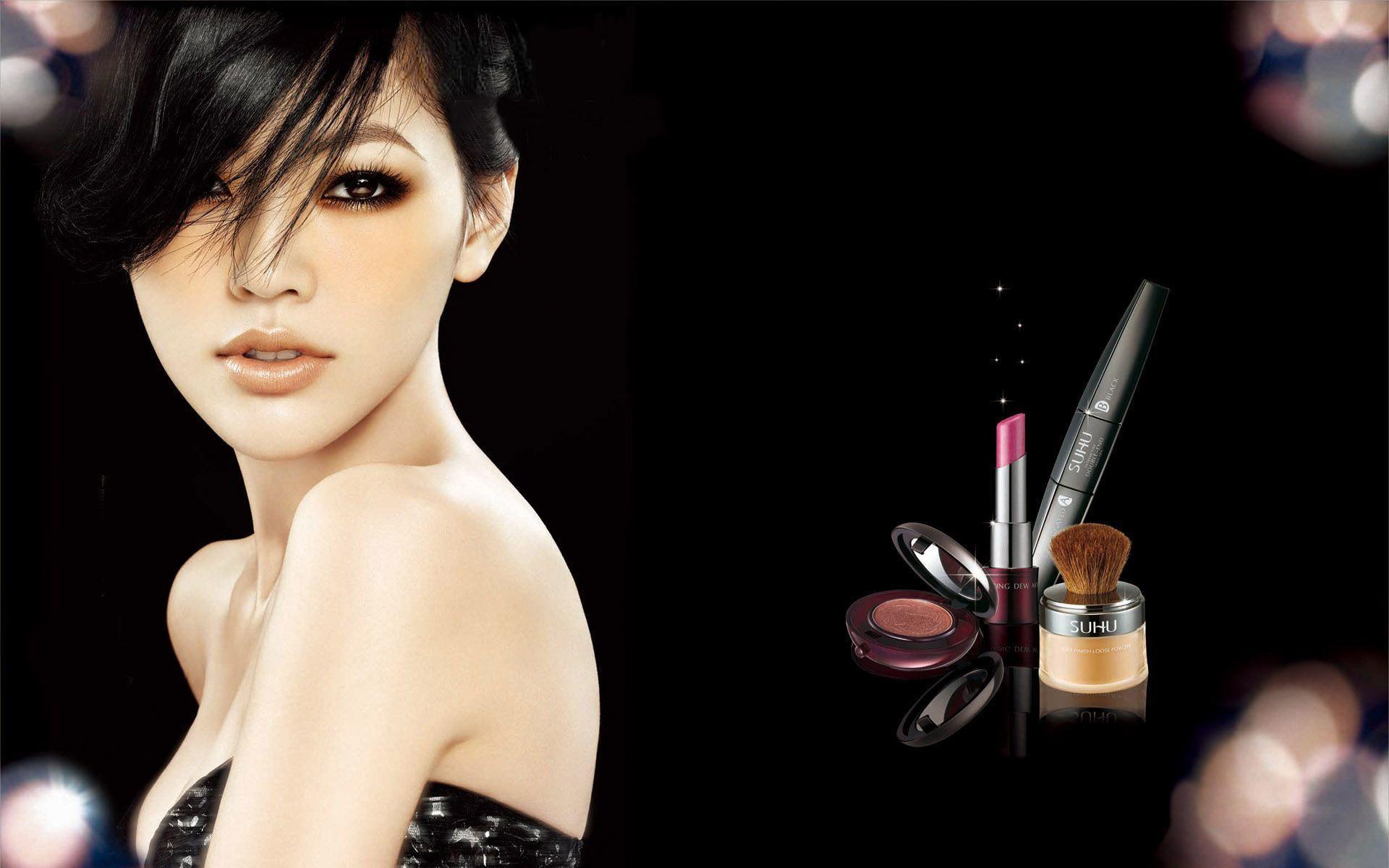 рекламный постер косметики