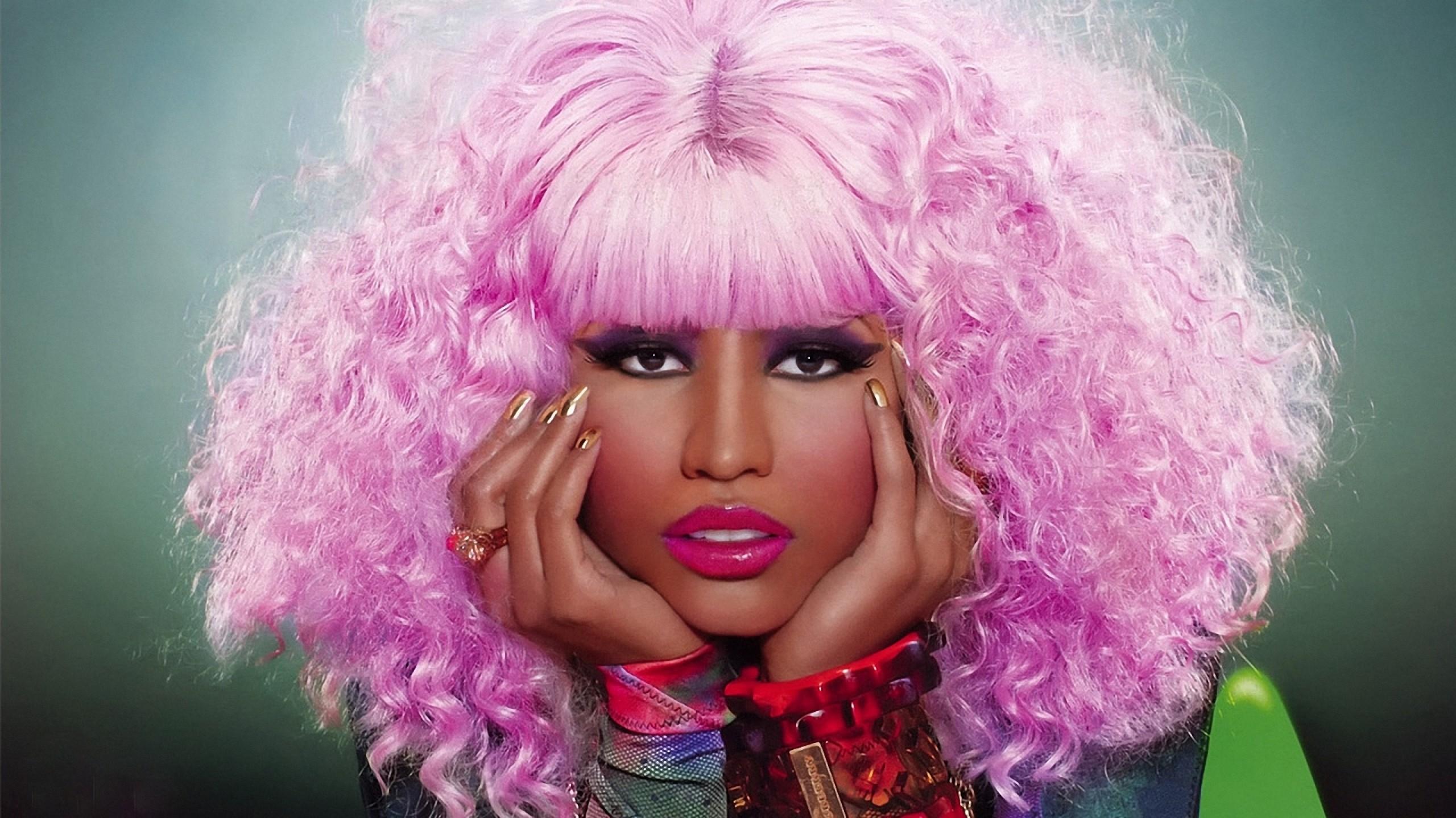 Wallpaper nicki minaj, haircut, pink, face, makeup