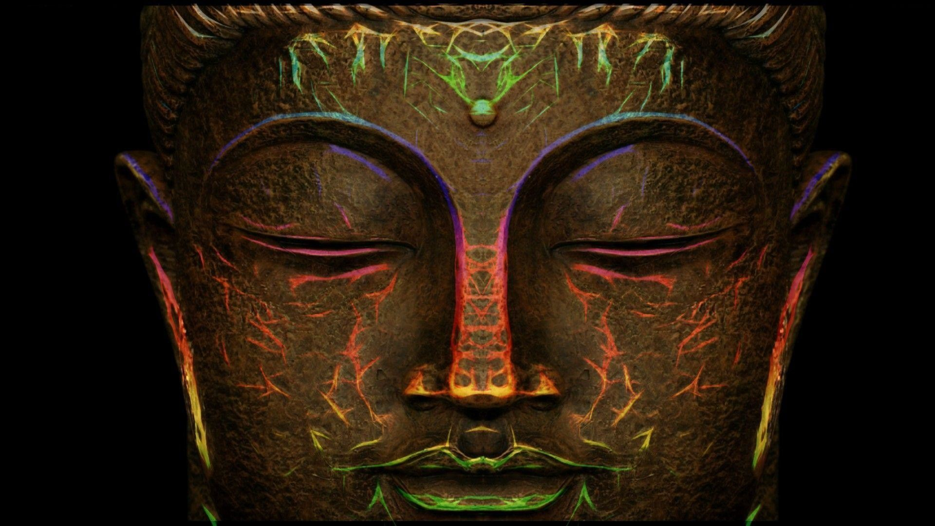 Images For > Trippy Buddha Wallpaper