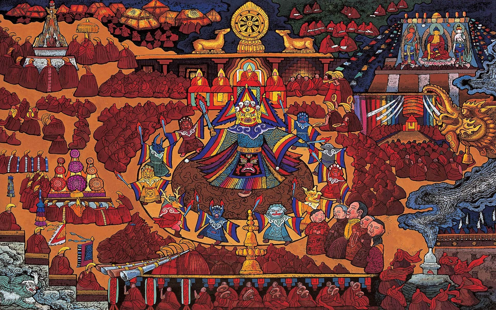 tibetan buddhist iphone wallpaper