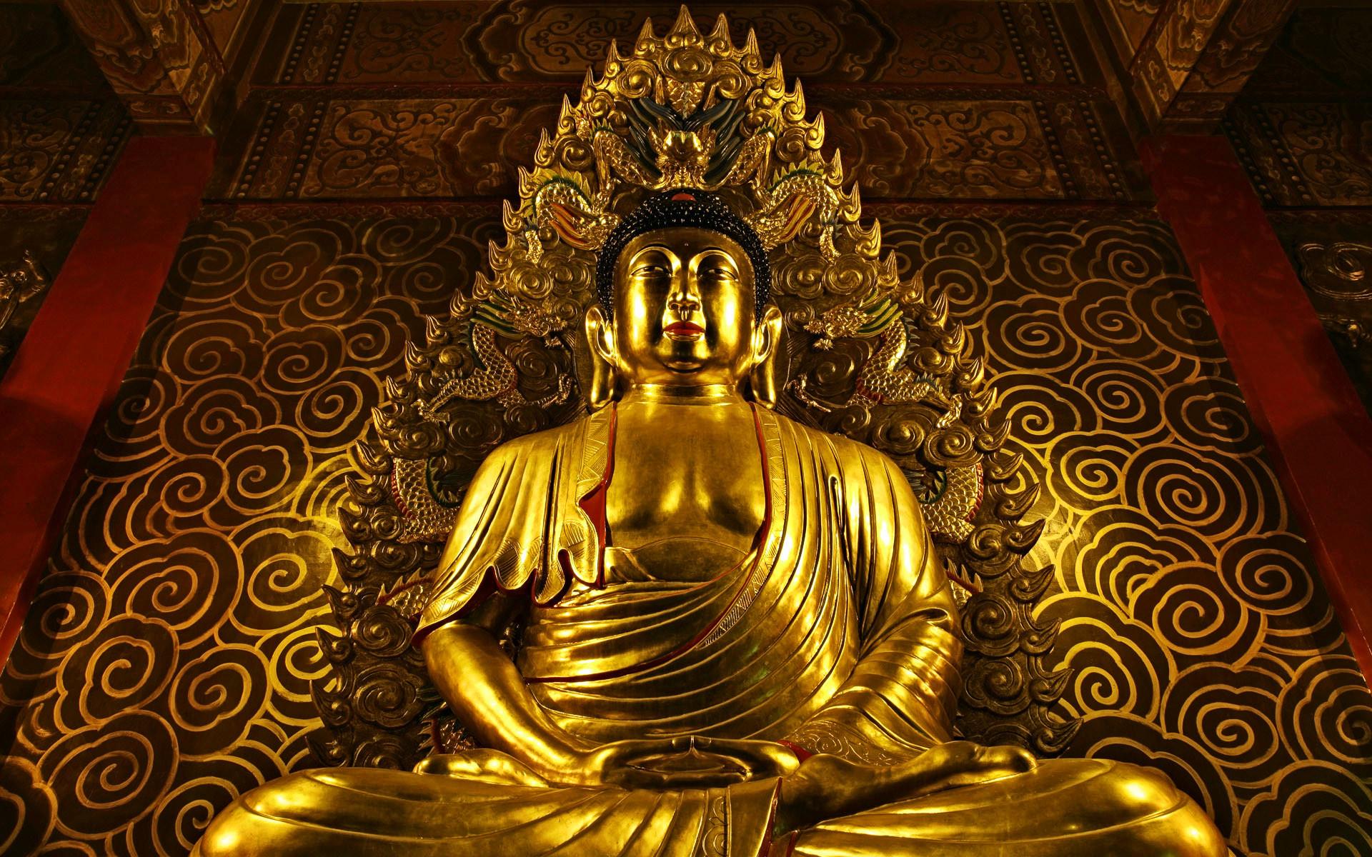 Gold Buddha   Wallpaper User