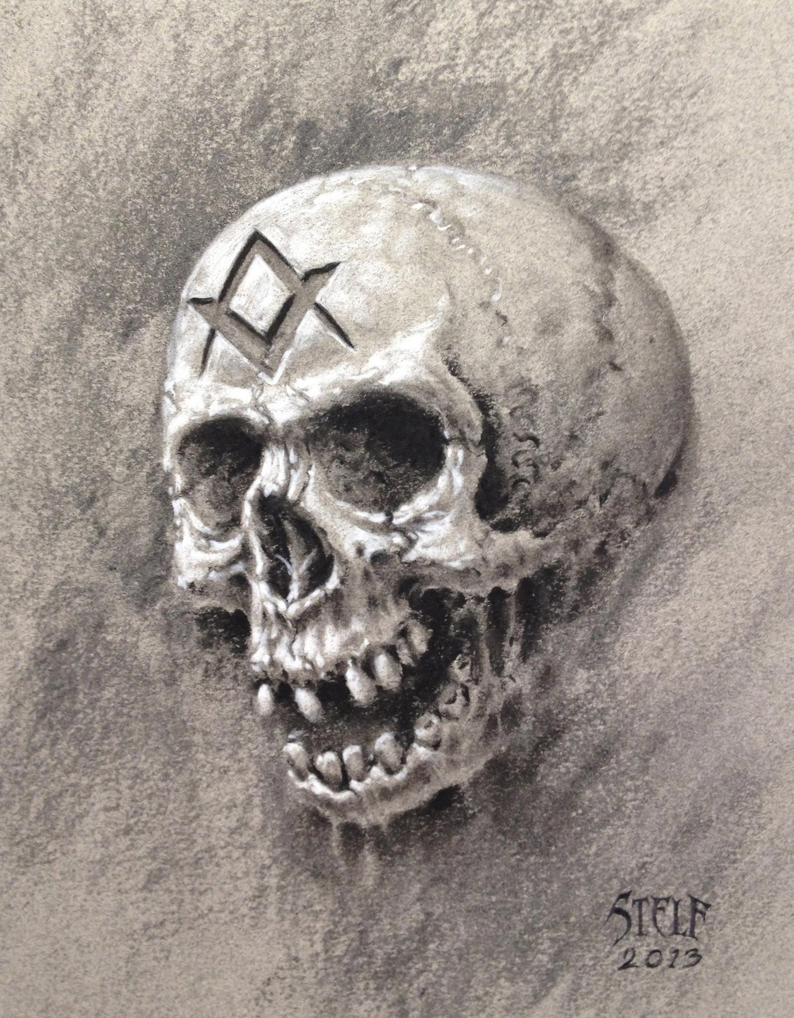 Masonic Skull study by Stelf-2014