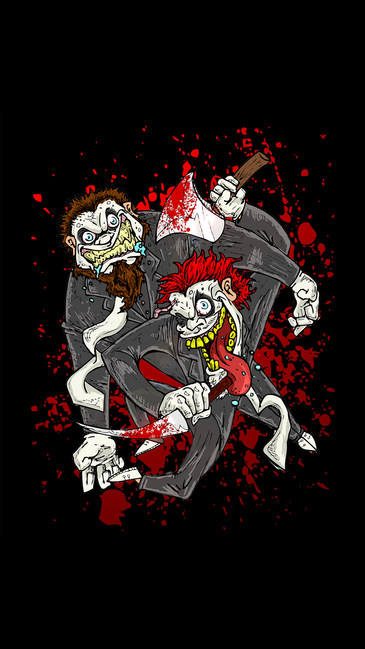 Twiztid Bloody Toons iPhone 3Wallpapers Parallax Les 3 Wallpapers .