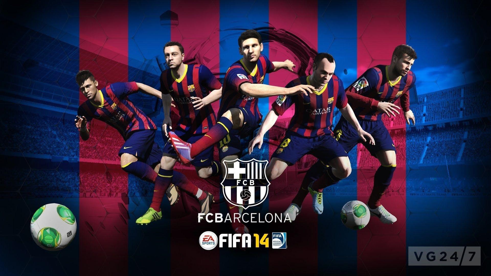 FC Barcelona FIFA football games wallpaper backgrounds – Football .