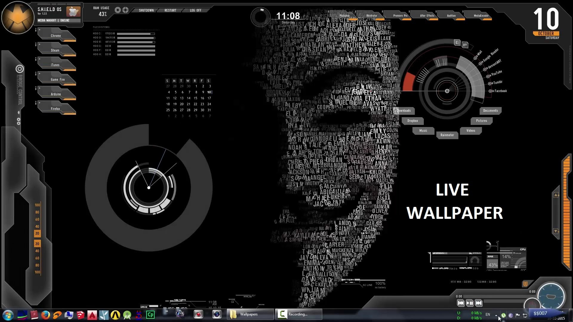 Make your desktop ALIVE with LIVE WALLPAPER – Rainmeter   $$007 – YouTube
