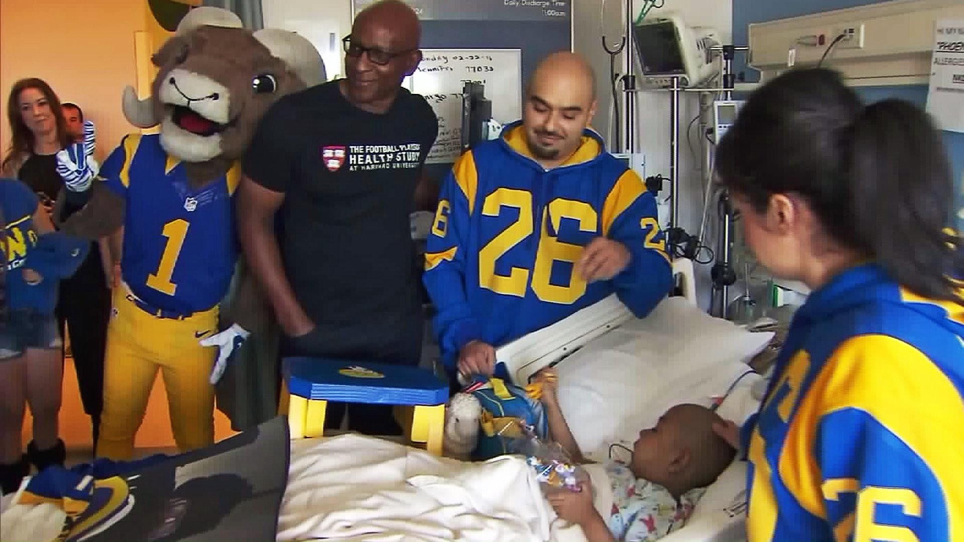 """Former Rams running back Eric Dickerson and mascot """"Rampage"""" visit Phoenix  Murillo at Mattel"""