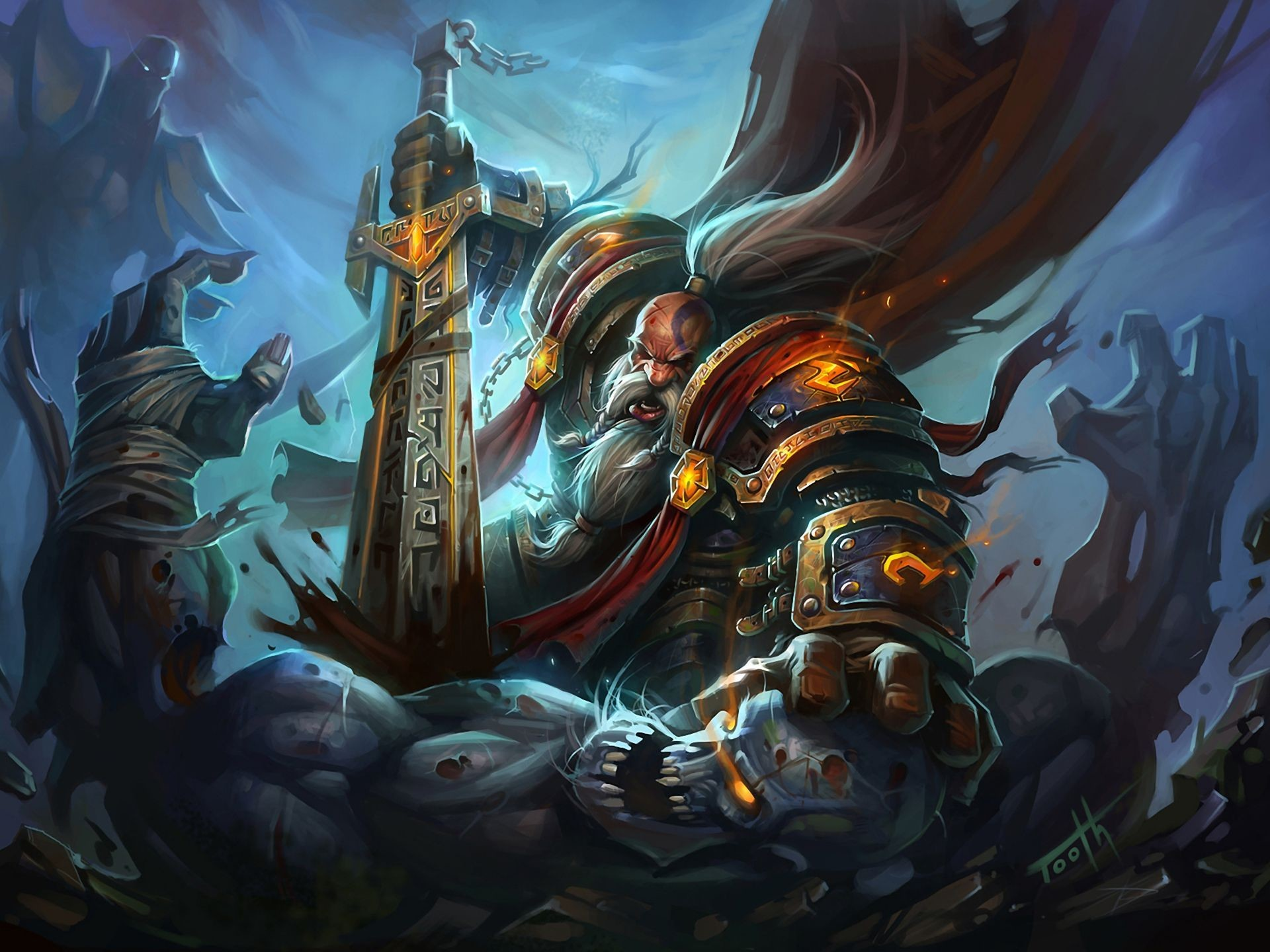 Gallery for – dwarf paladin wallpaper