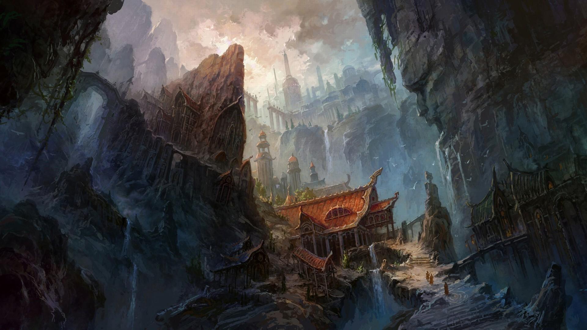 fantasy city Wallpaper Backgrounds