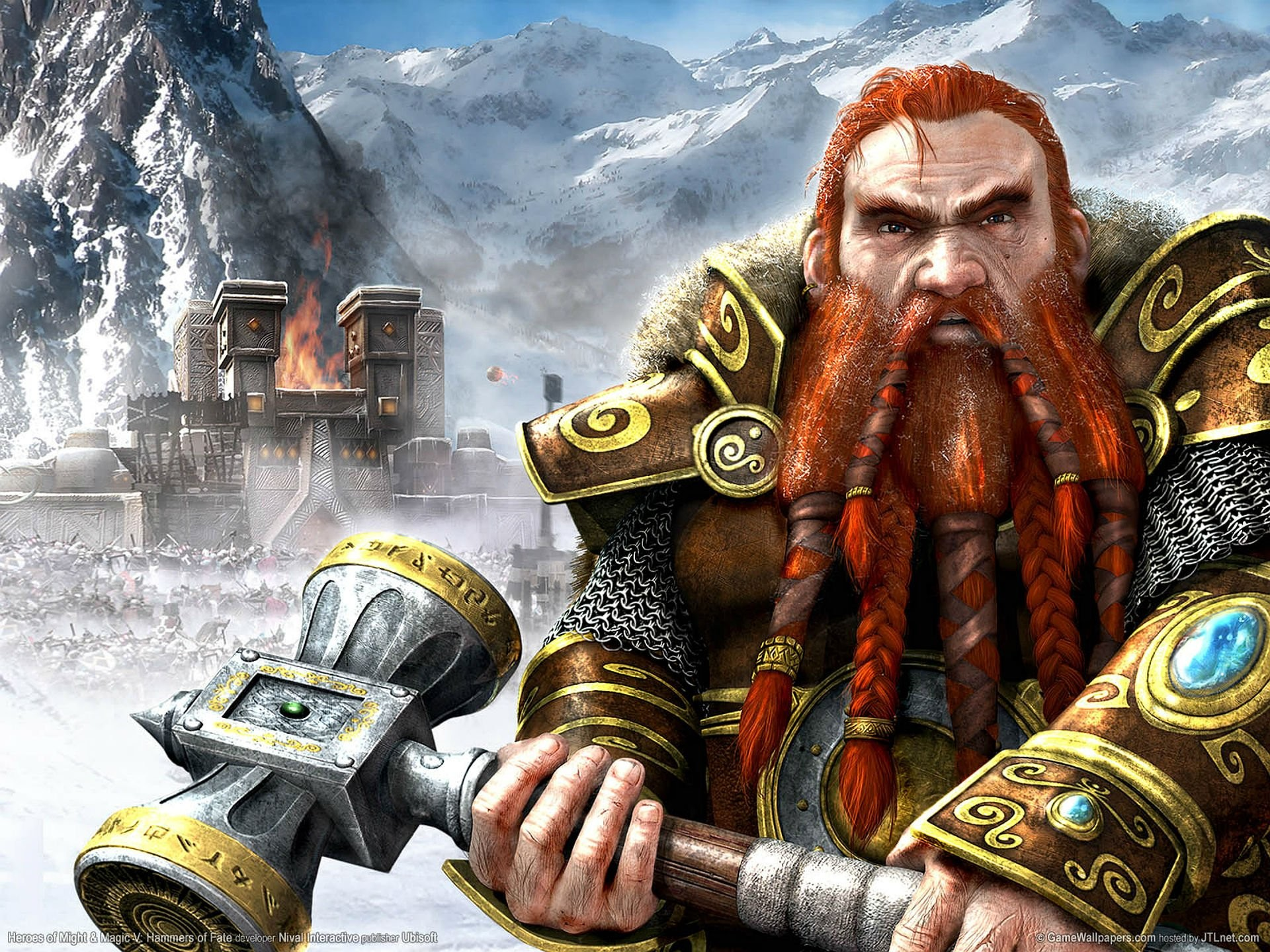 HEROES MIGHT MAGIC strategy fantasy fighting adventure action online 1hmm  warrior dwarf castle wallpaper | | 622583 | WallpaperUP