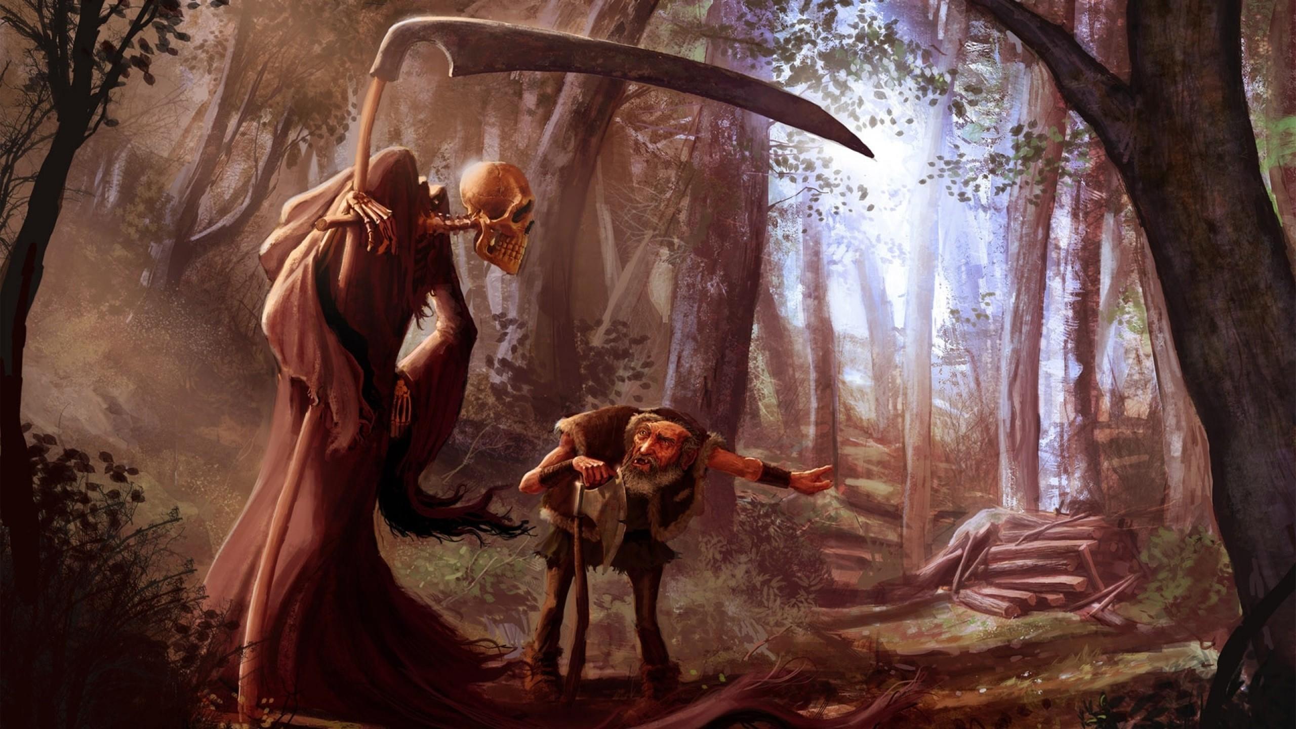 death grim reaper scythe axes realistic 1920×1080 wallpaper Art HD Wallpaper