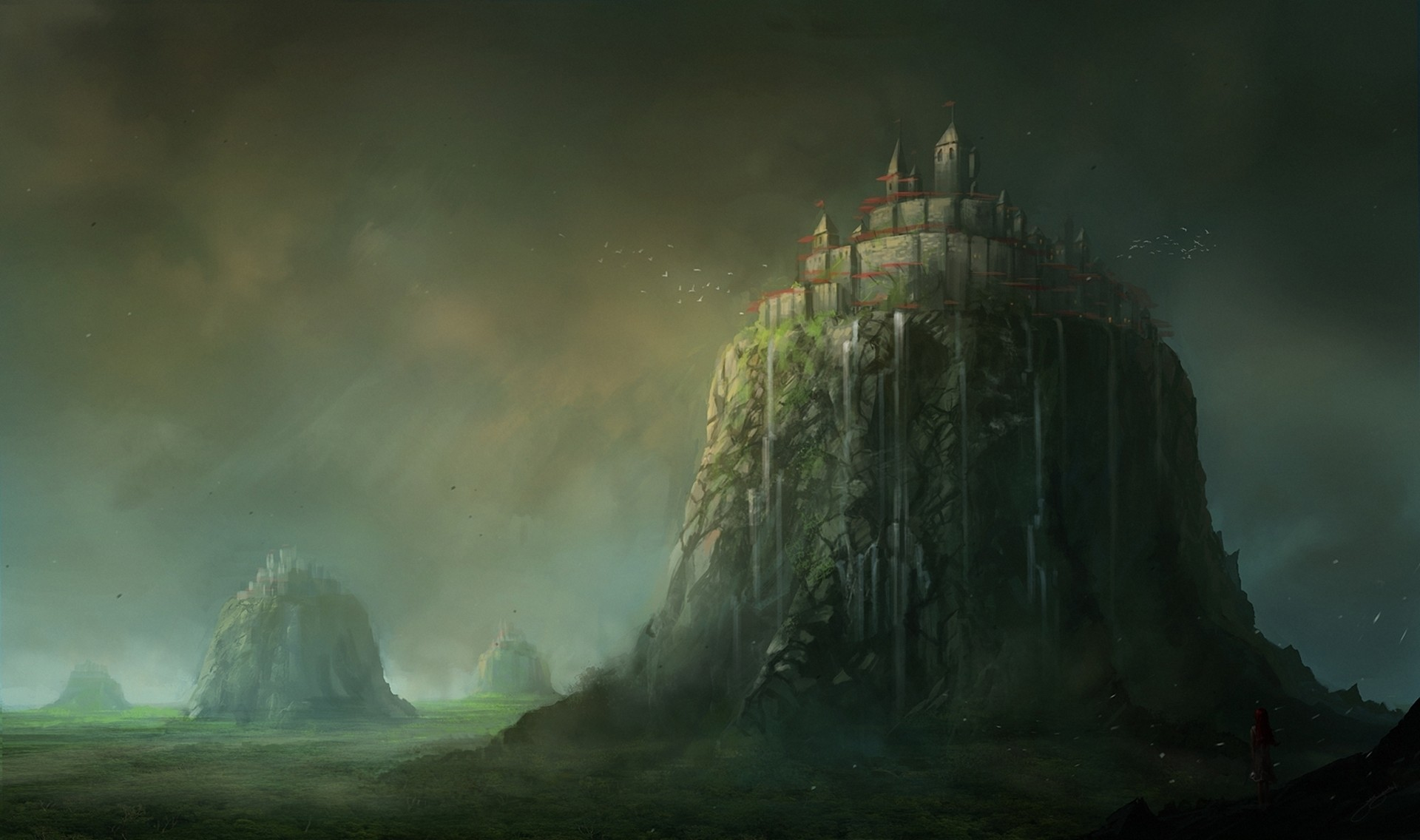 Free fortress Fantasy wallpaper background