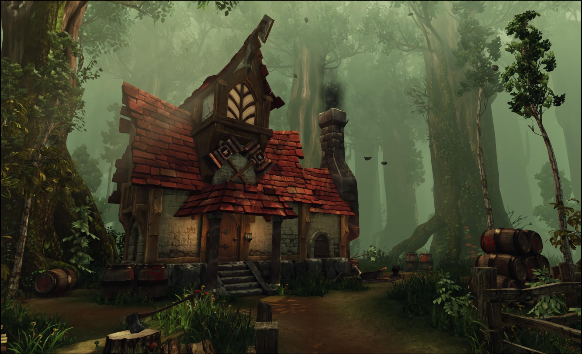 Fantasy – House Fantasy Forest Wallpaper