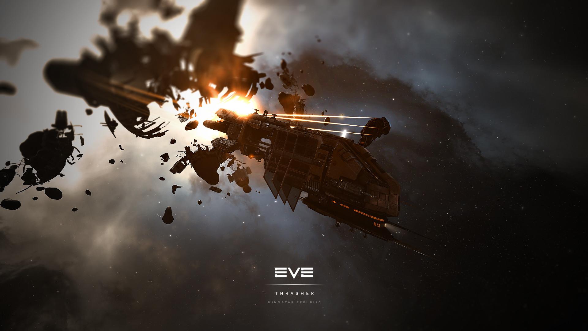 … EVE Online – Minmatar Republic Thrasher Wallpaper by MVestala
