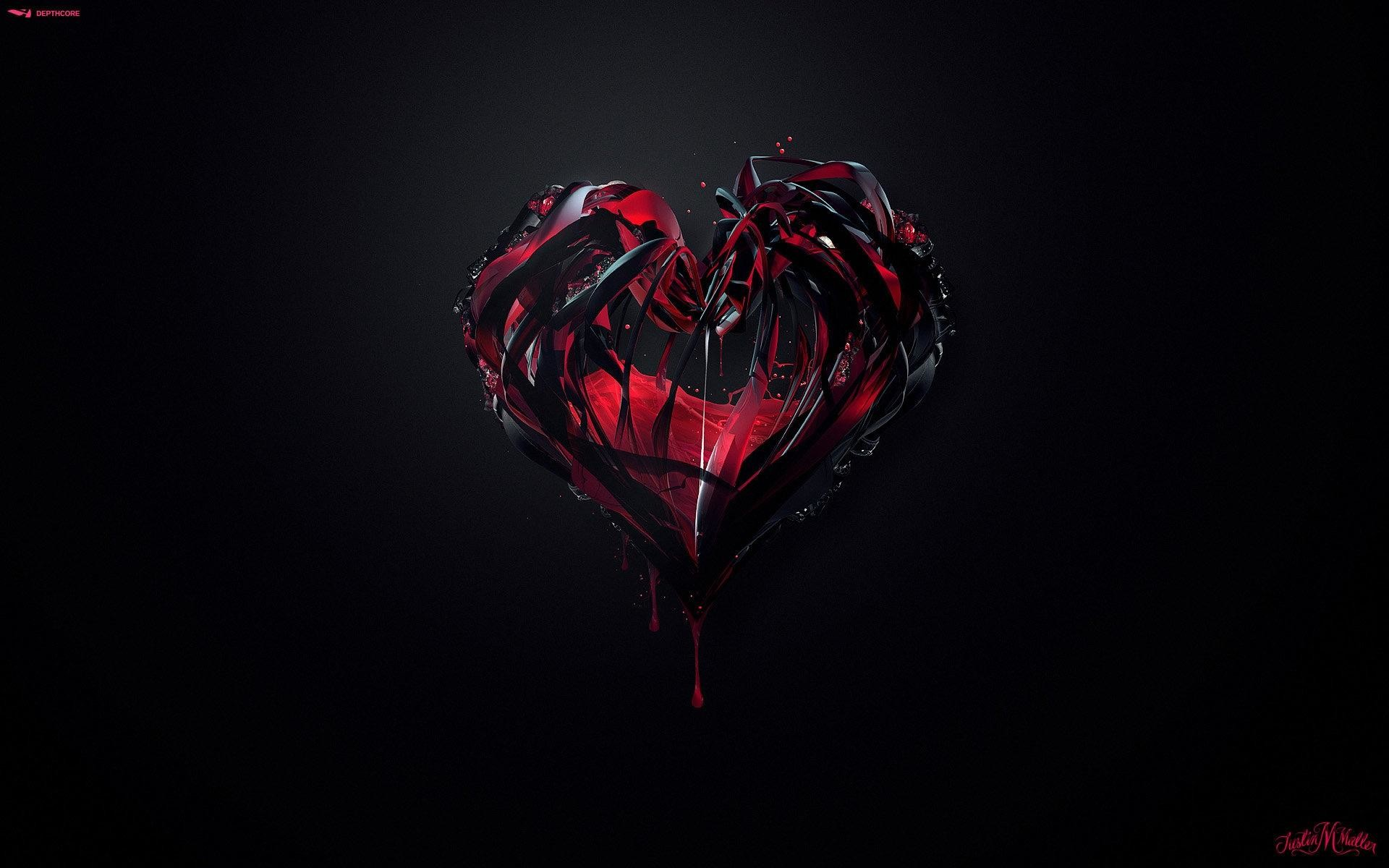 Download Gothic Heart Love Romance Valentines Wallpaper At 3d Wallpapers