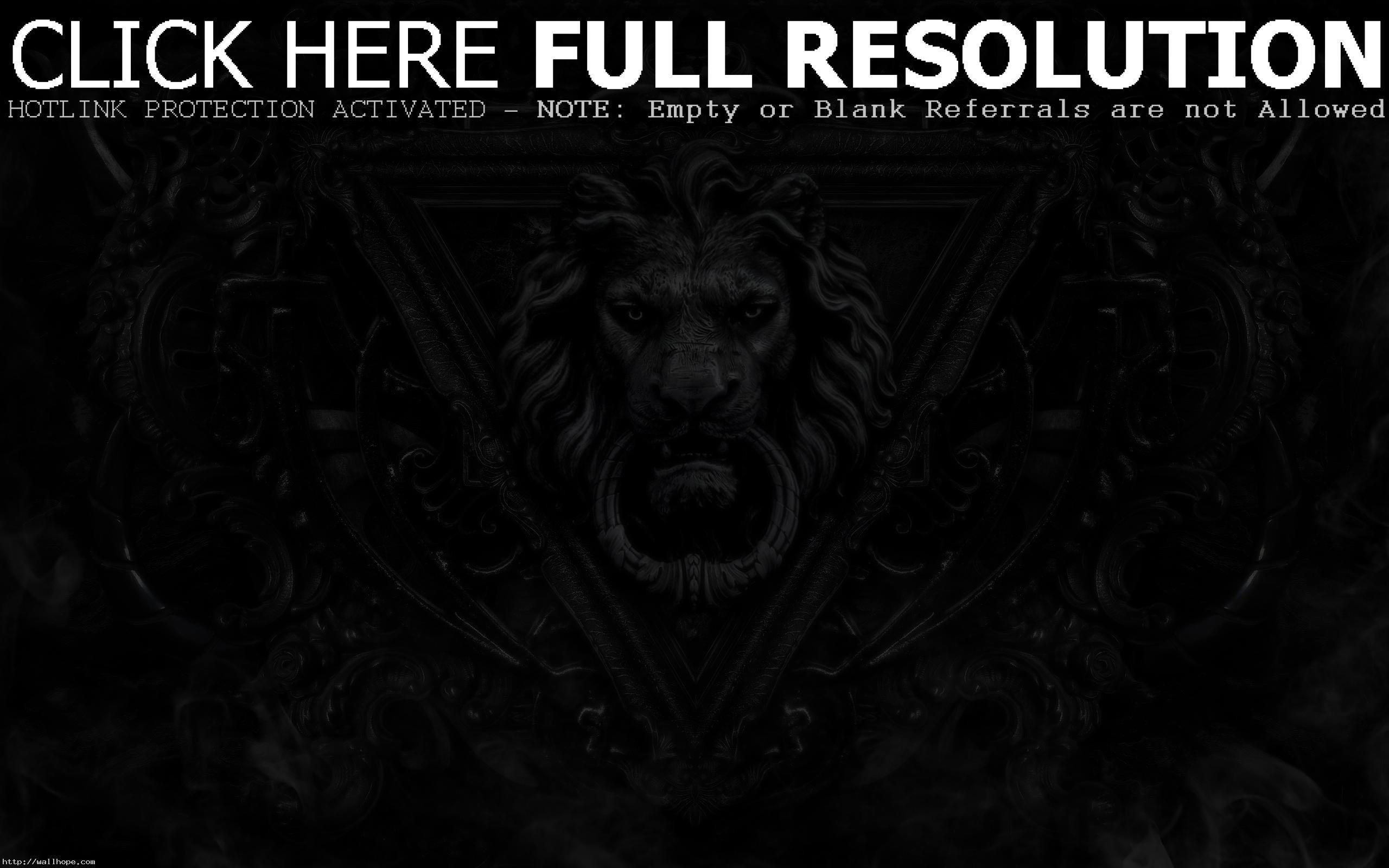 Gothic computer wallpaper | Gothic Desktop Background-3D Dark Monster lion  wallpaper