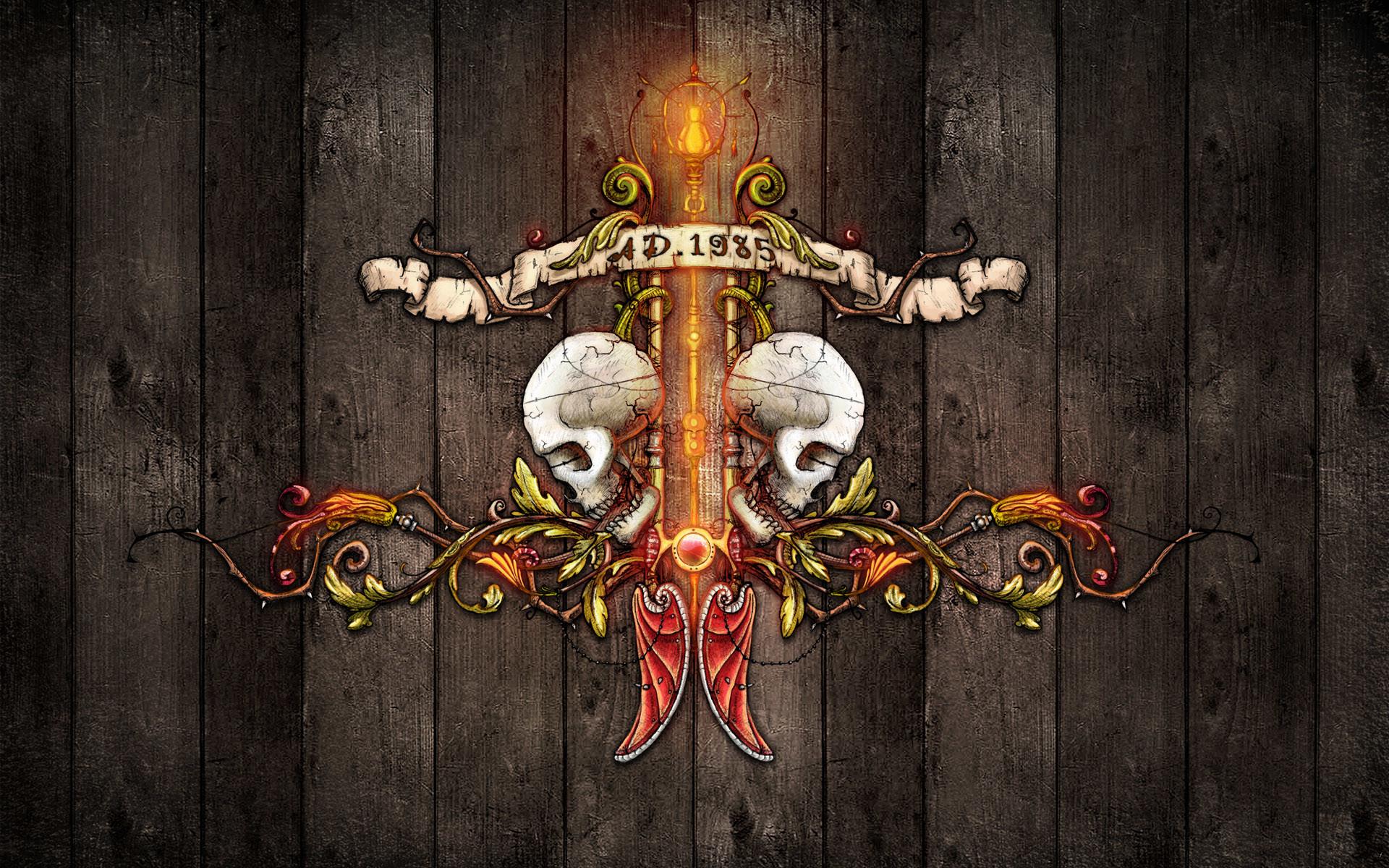 Pin Gothic Skull Wallpaper on Pinterest
