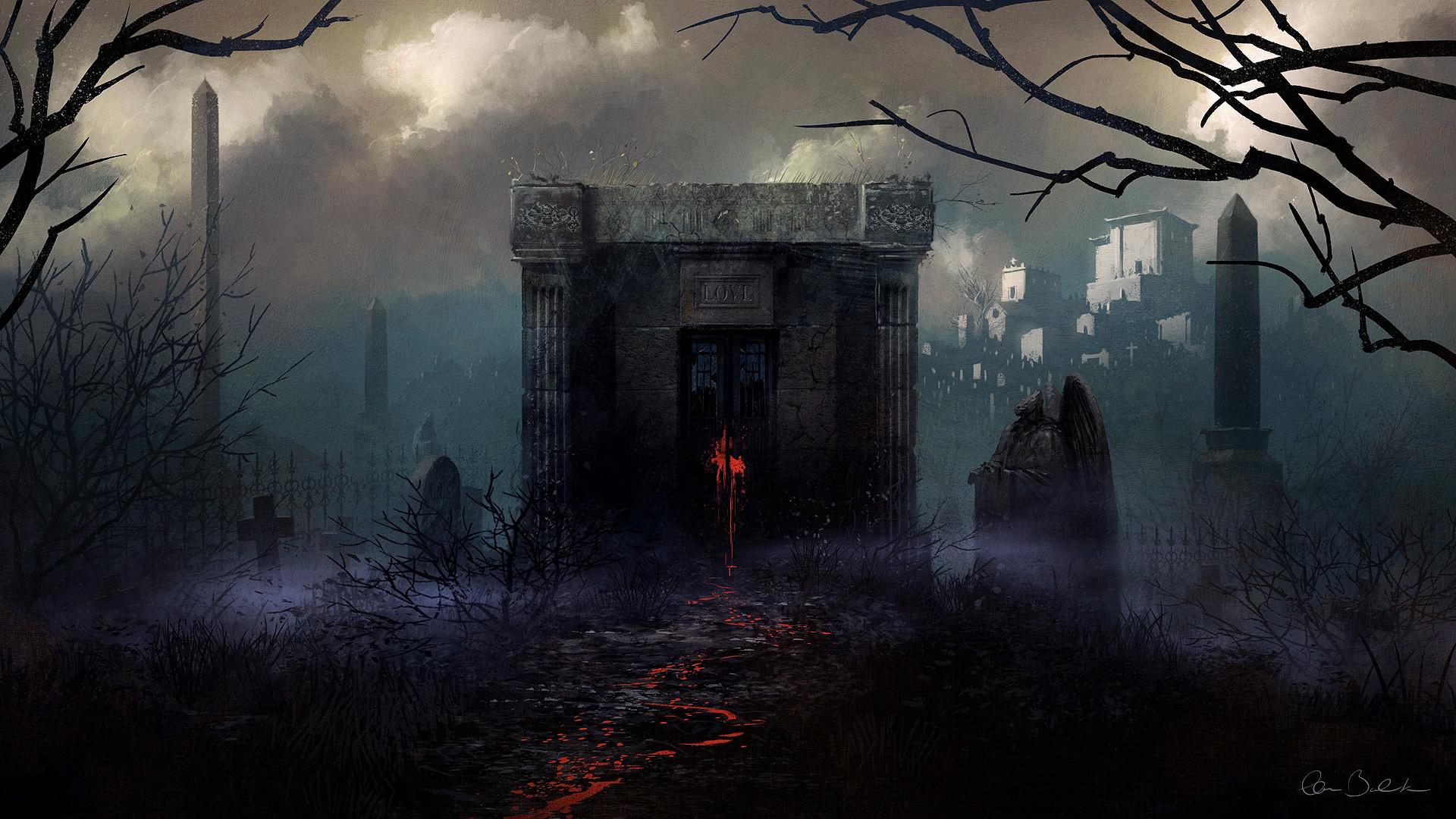 Gothic Christopher Balaskas Fog Fantasy Halloween Blood Spooky Wallpaper At  Dark Wallpapers