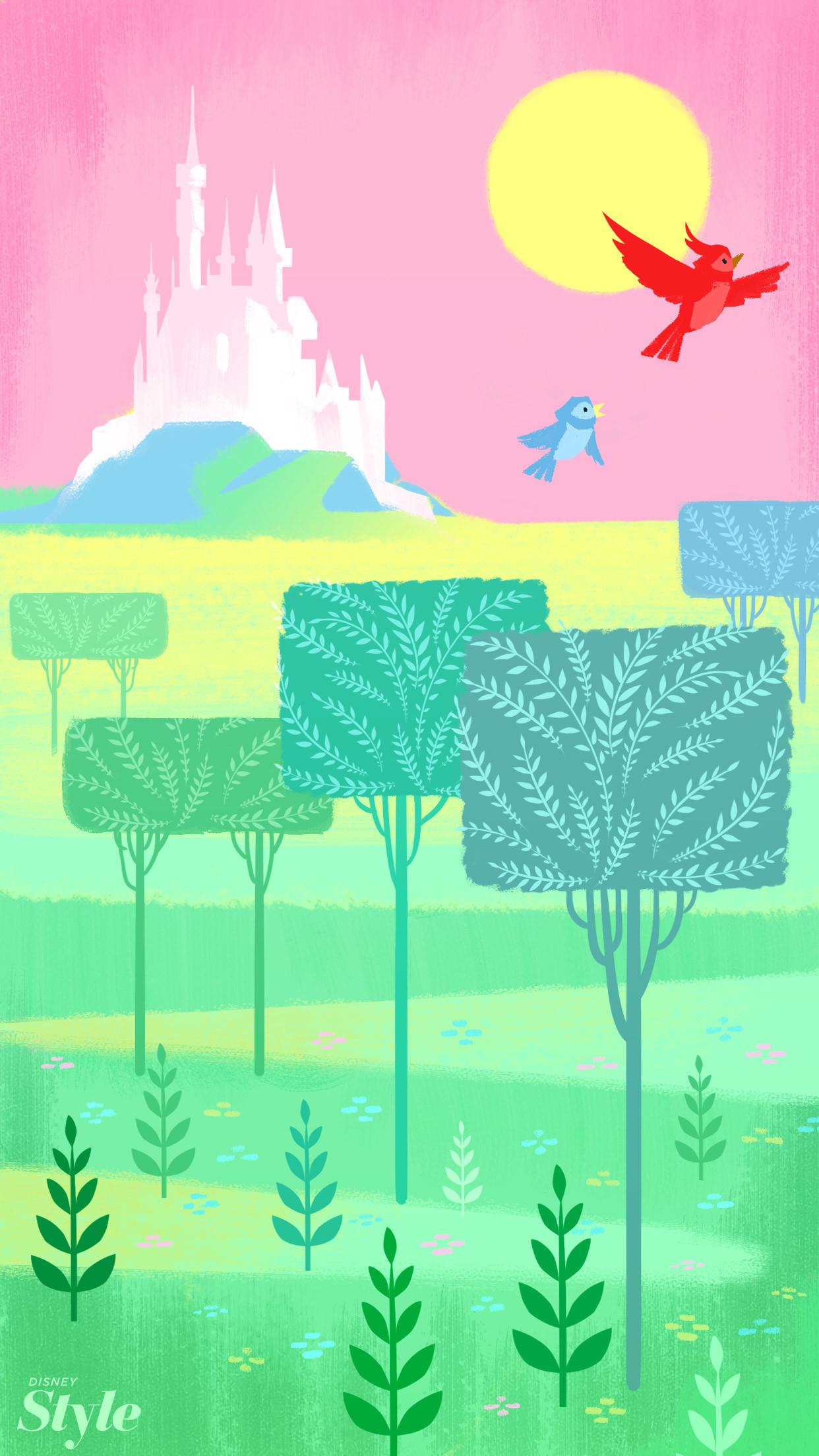 Disney style: Disney castle for iPhone wallpaper