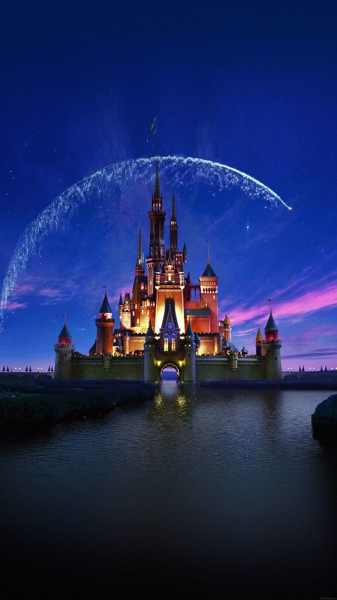 Tap image for more iPhone Disney wallpaper! Disney castle artwork –  @mobile9   Wallpapers