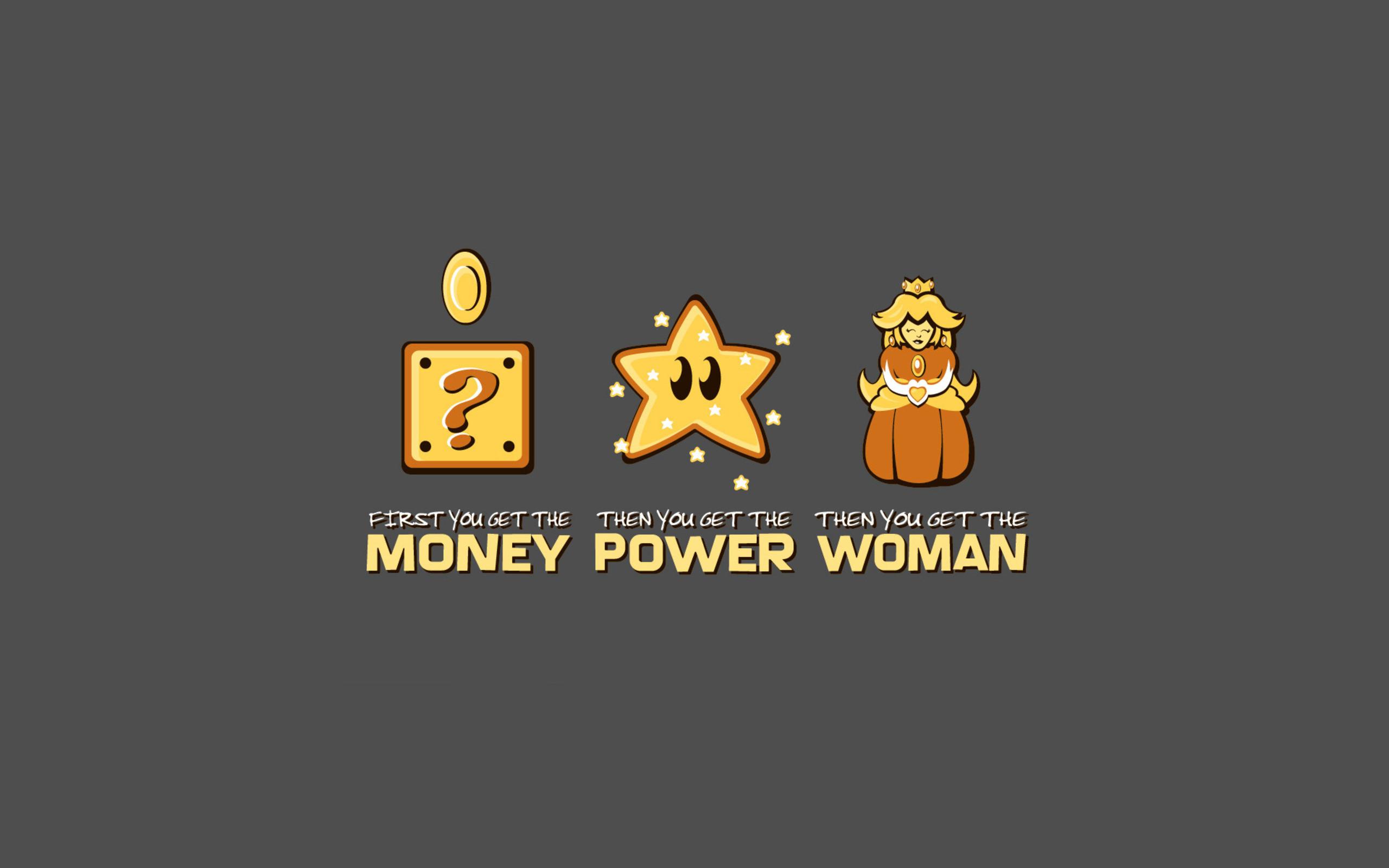 Mario Money Power Woman. Mario Money Power Woman via. Funny Work  Screensavers for Desktop