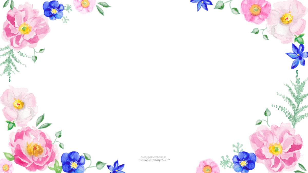 Blue Pink Watercolor Floral Wallpaper 1920 1080 Jpg 1920a 1080