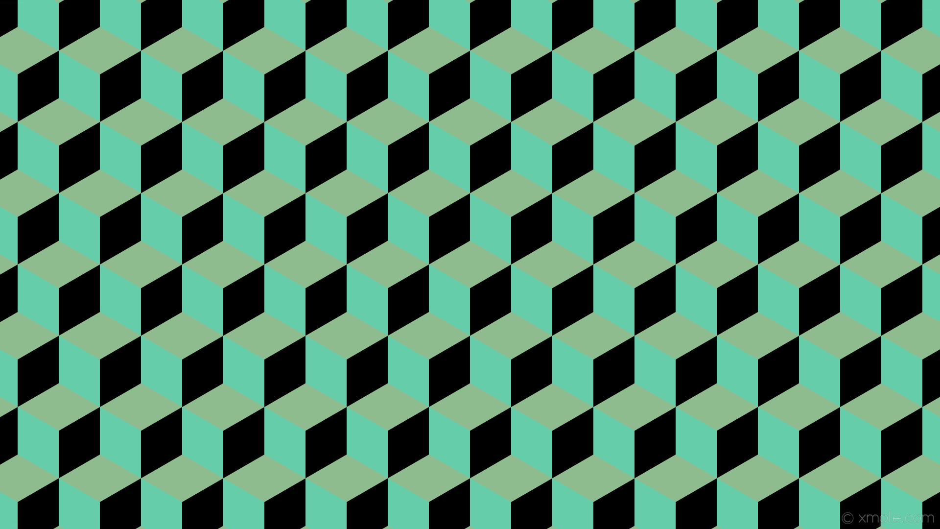 wallpaper black 3d cubes green dark sea green medium aquamarine #8fbc8f  #66cdaa #000000