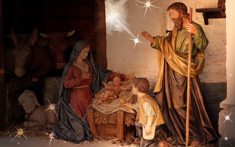 HD Wallpaper: Birth of Jesus scene at every Christmas