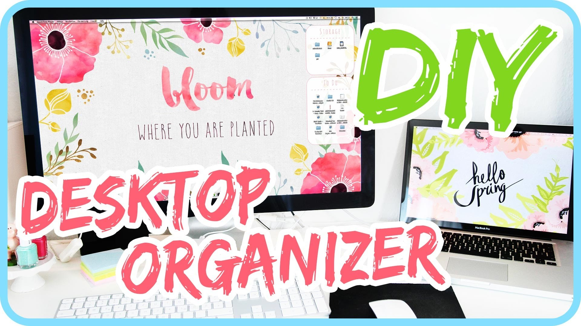 DIY Desktop Organizer Wallpaper