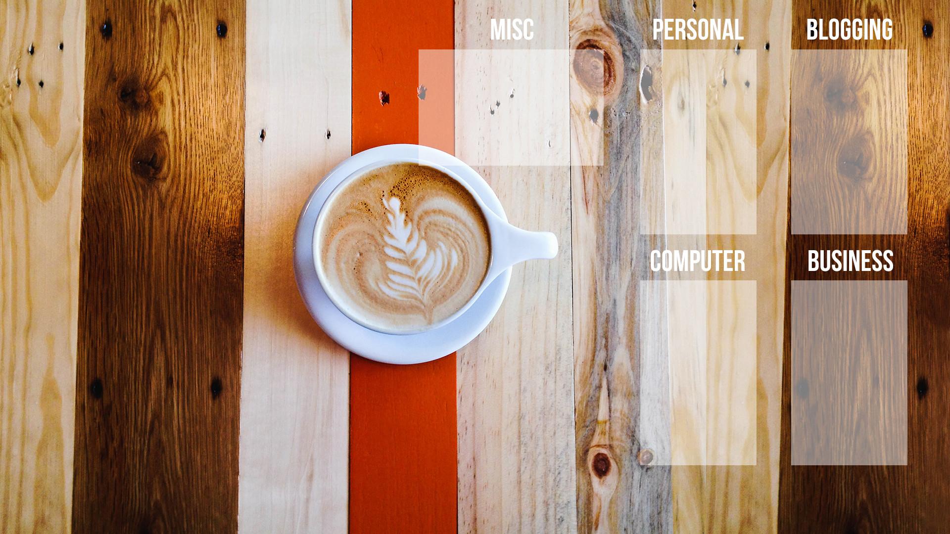 Coffee tabletop desktop organizer wallpaper background