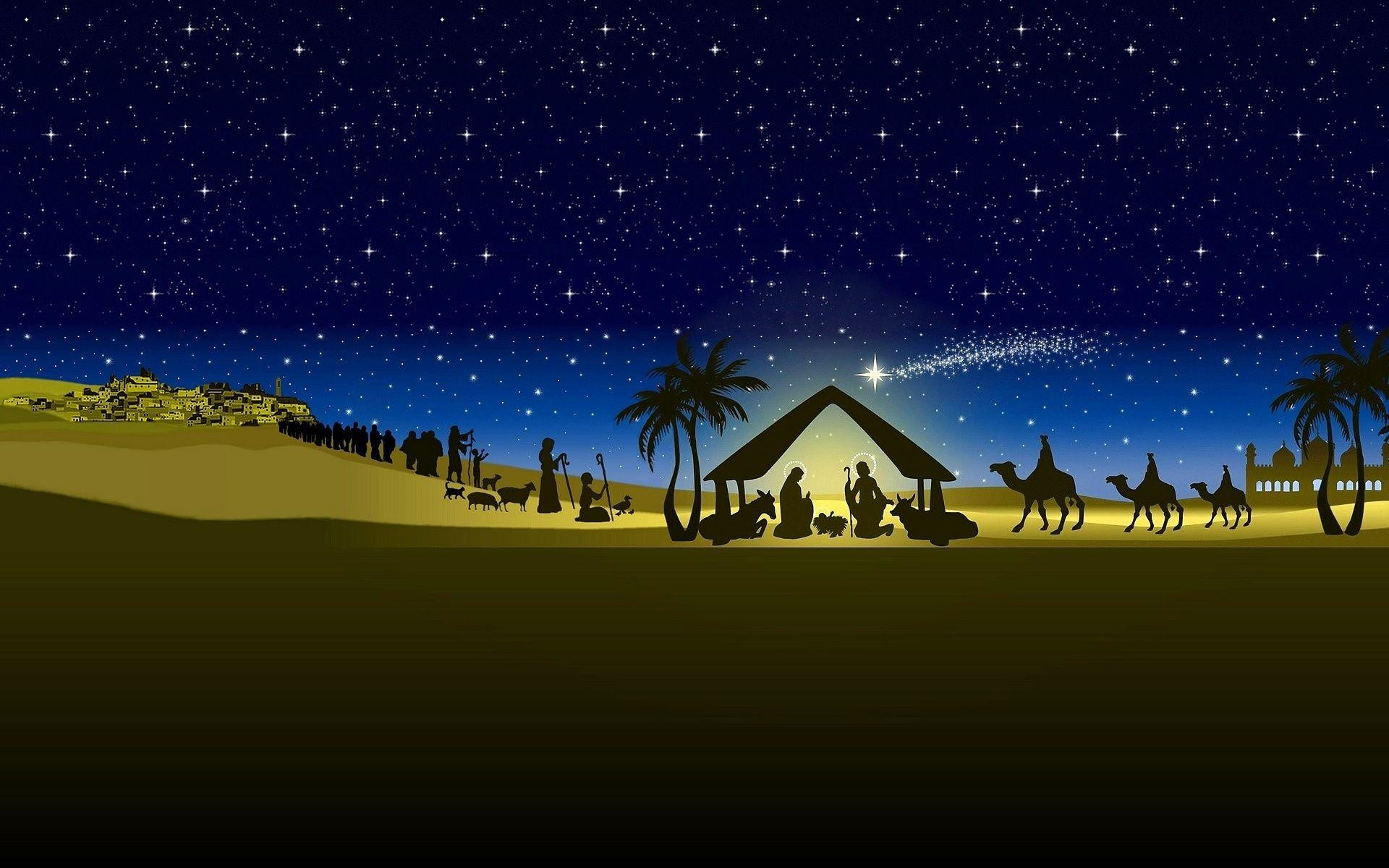 Wallpapers For > Christmas Nativity Wallpaper Hd