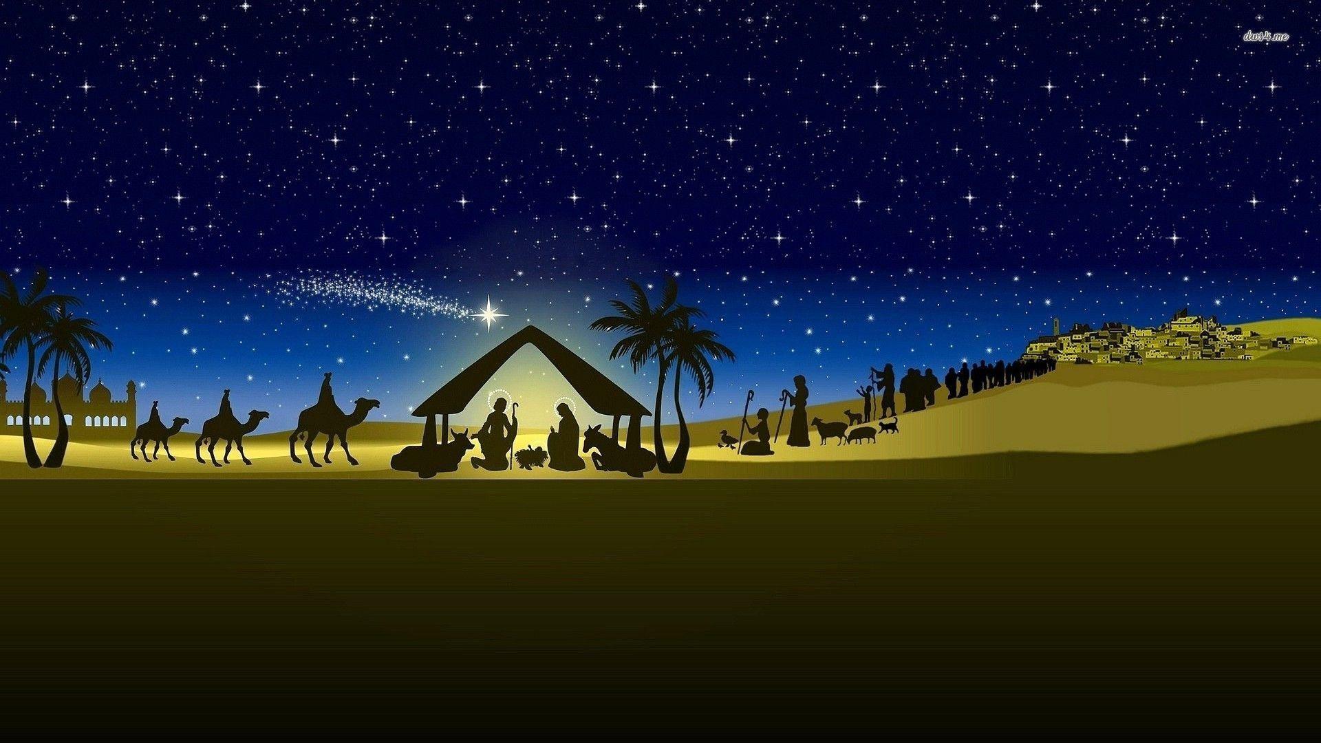 Nativity Scene Wallpaper | WallpaperToon