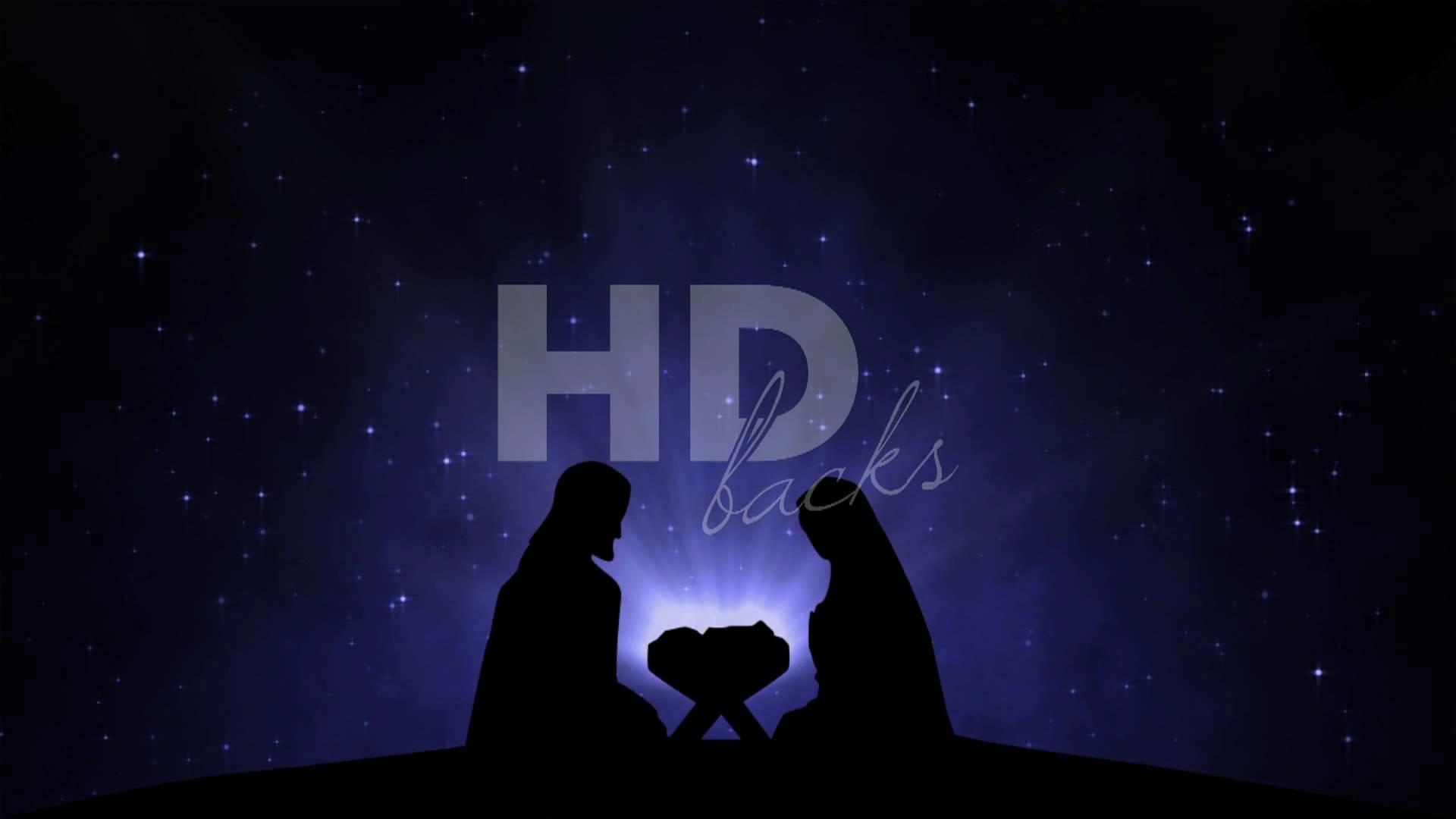 Nativity Silhouette – HD Background Loop