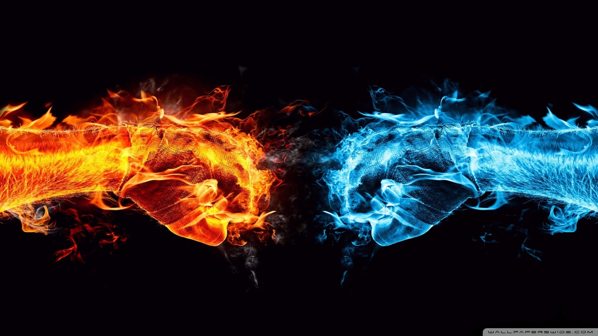 Fire And Ice Awesome Photo | 4288903 Fire And Ice Wallpapers, 2048×1152