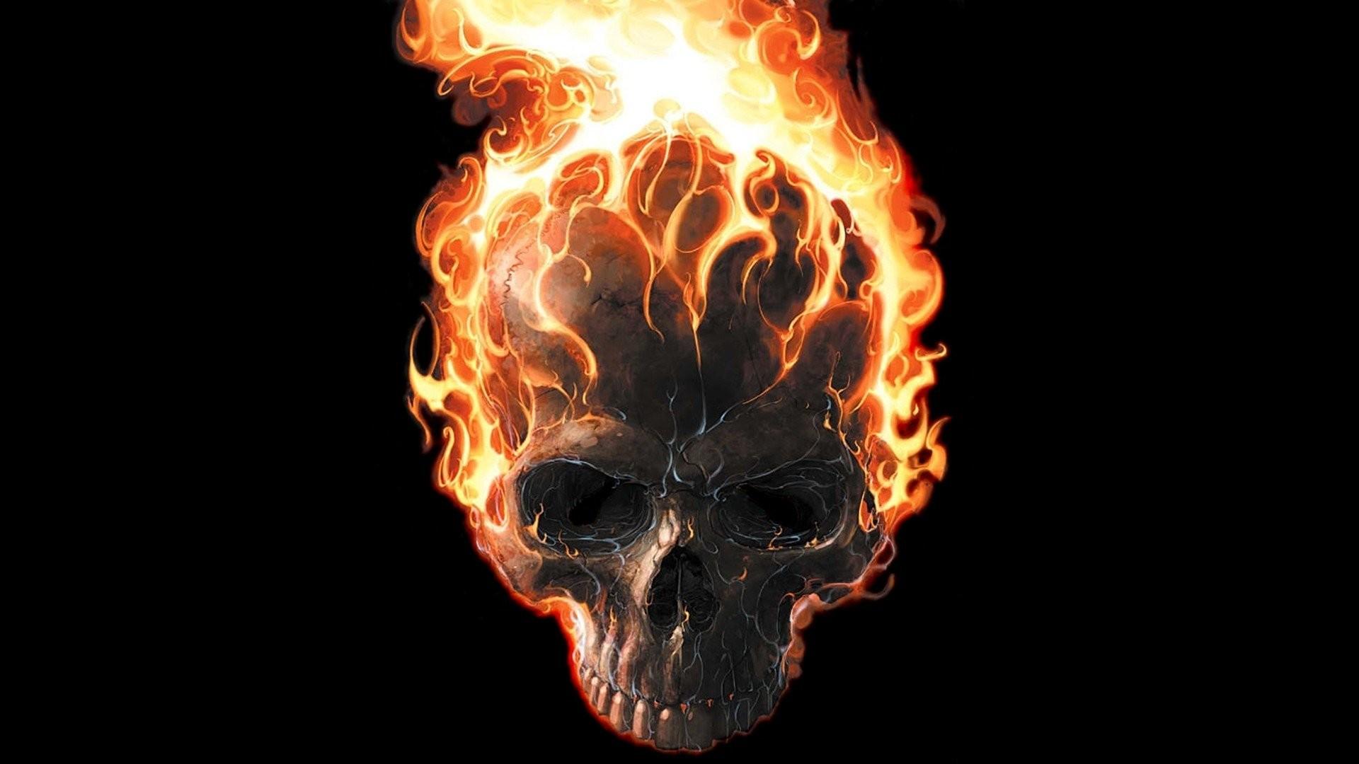 58 flaming skulls