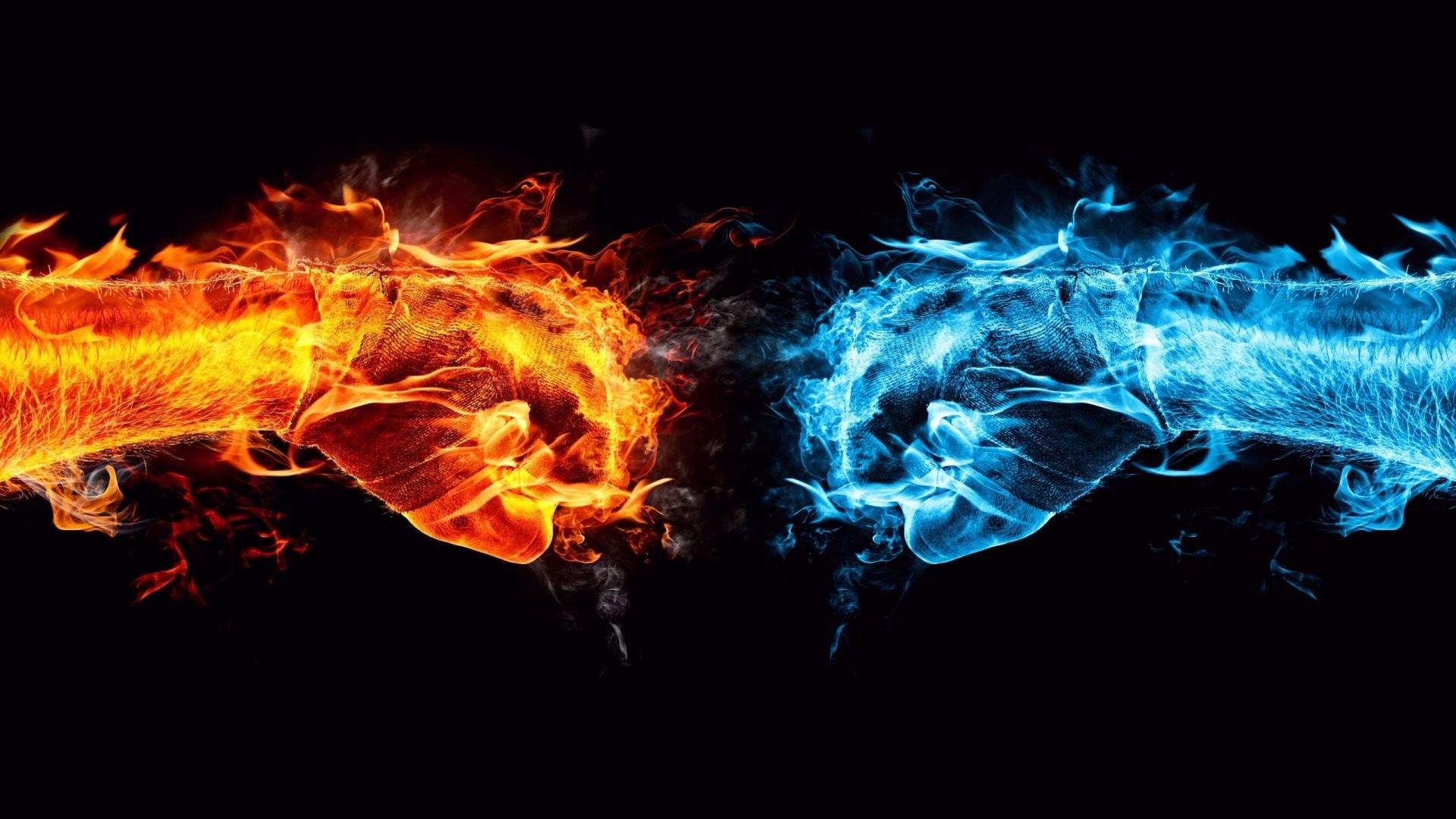 Flaming Skulls Wallpaper .