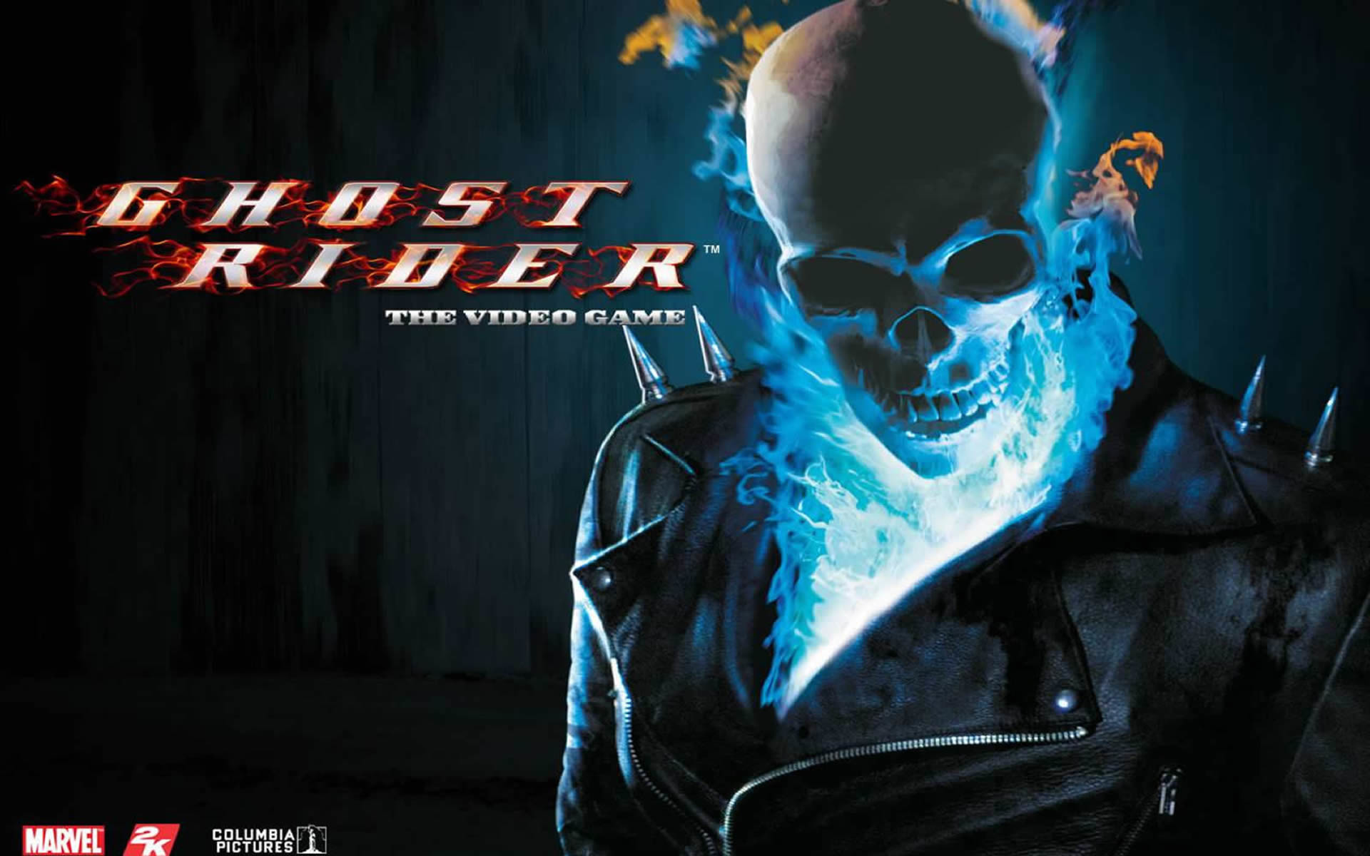 Blue Flame Skull – Superhero Games Wallpaper Image featuring Ghost .