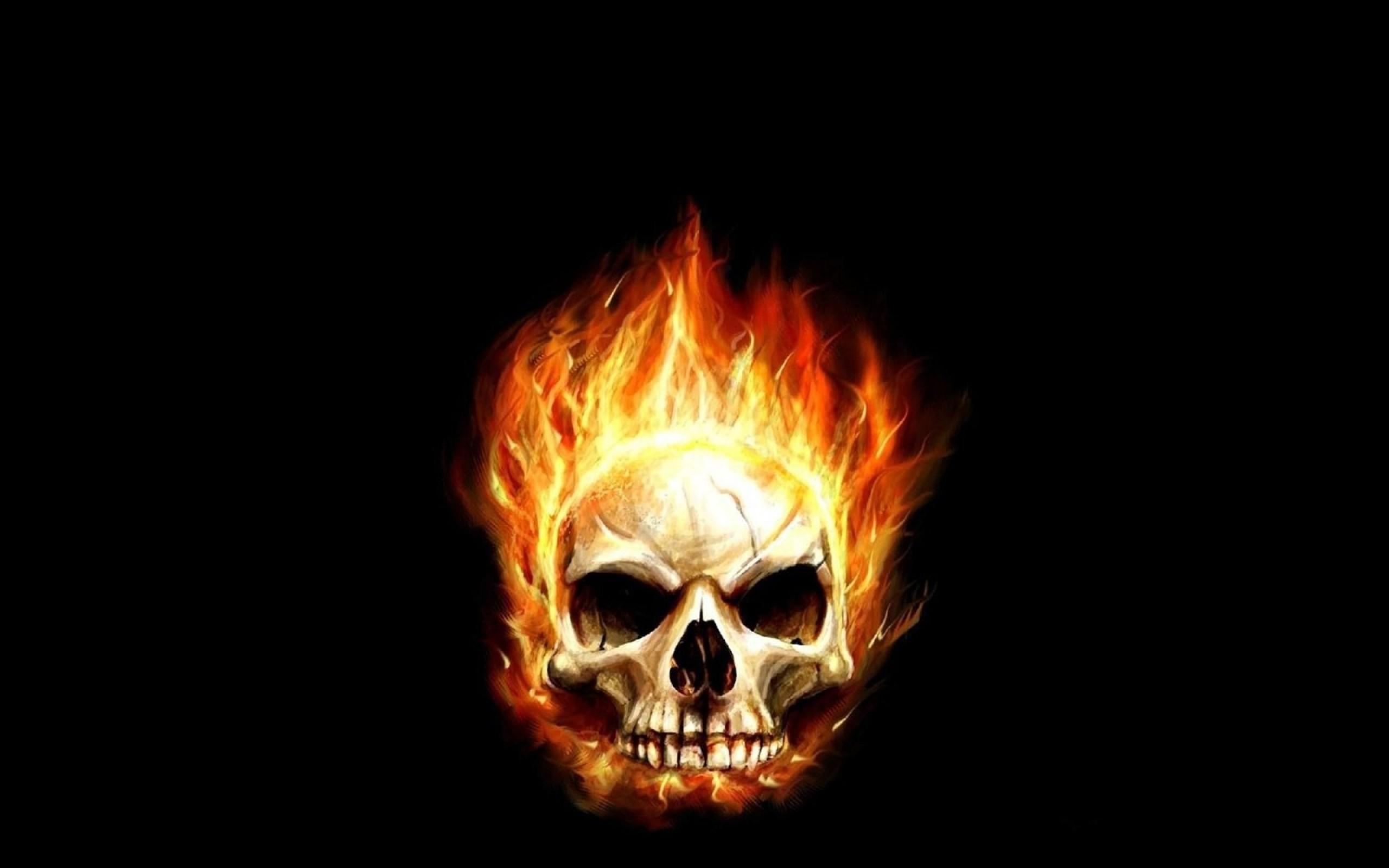 flaming skull wallpaper 1600×1200 wallpaper Art HD Wallpaper