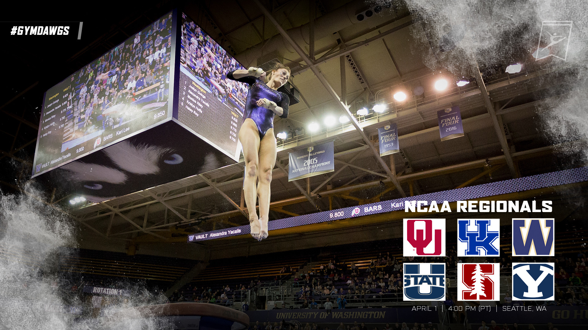 Washington Gymnastics Set To Host NCAA Regionals