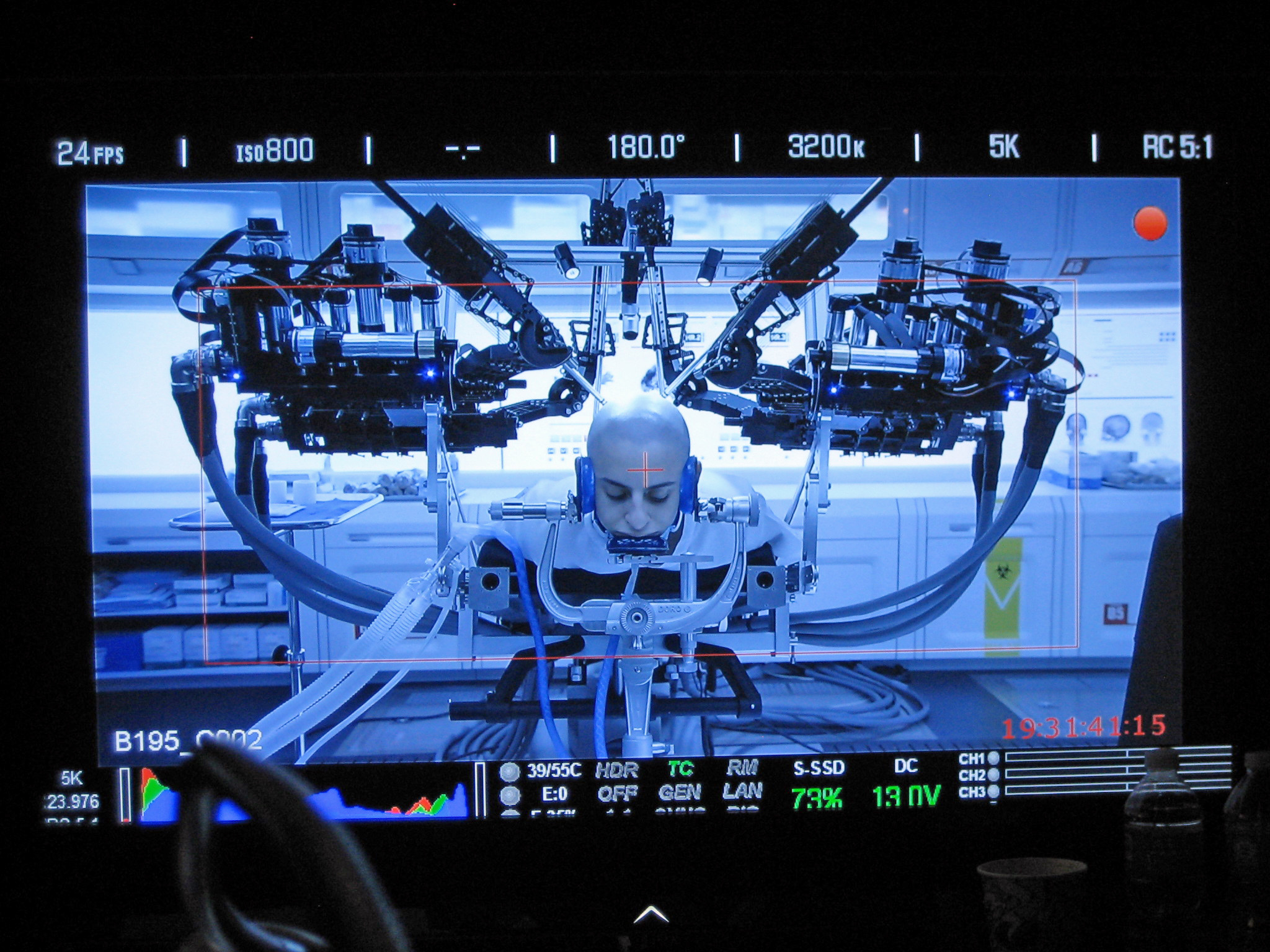 A close-up shoot of the UW's Raven II robot as it simulates brain surgery