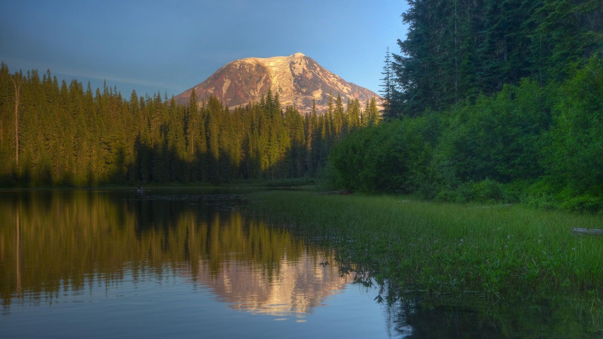 Ollalie Lake, Mount Adams, Washington, desktop wallpaper nr.