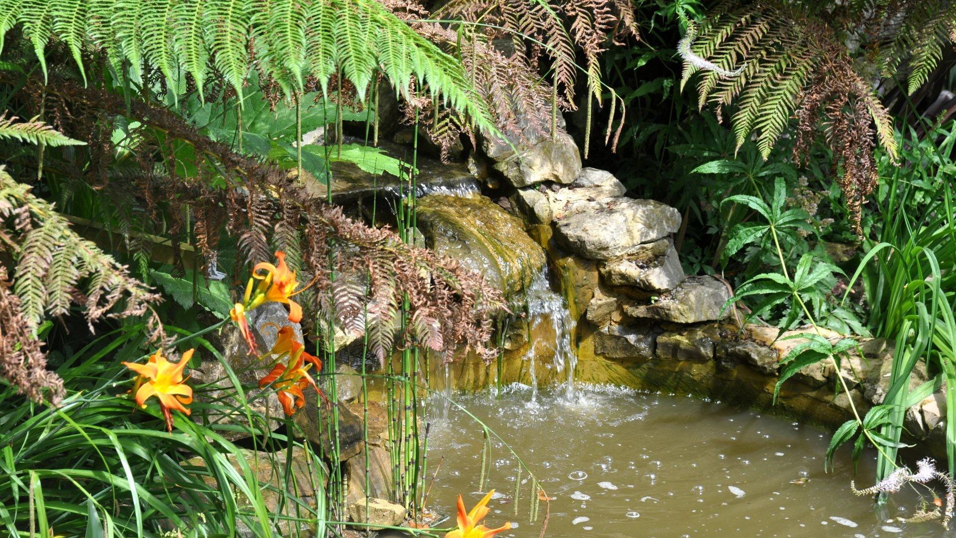 … Desktop Background Moving. 4288×2848. English Tag – Gardens British  United England English Pond Serenity Orange Water River Peace Serene Britain
