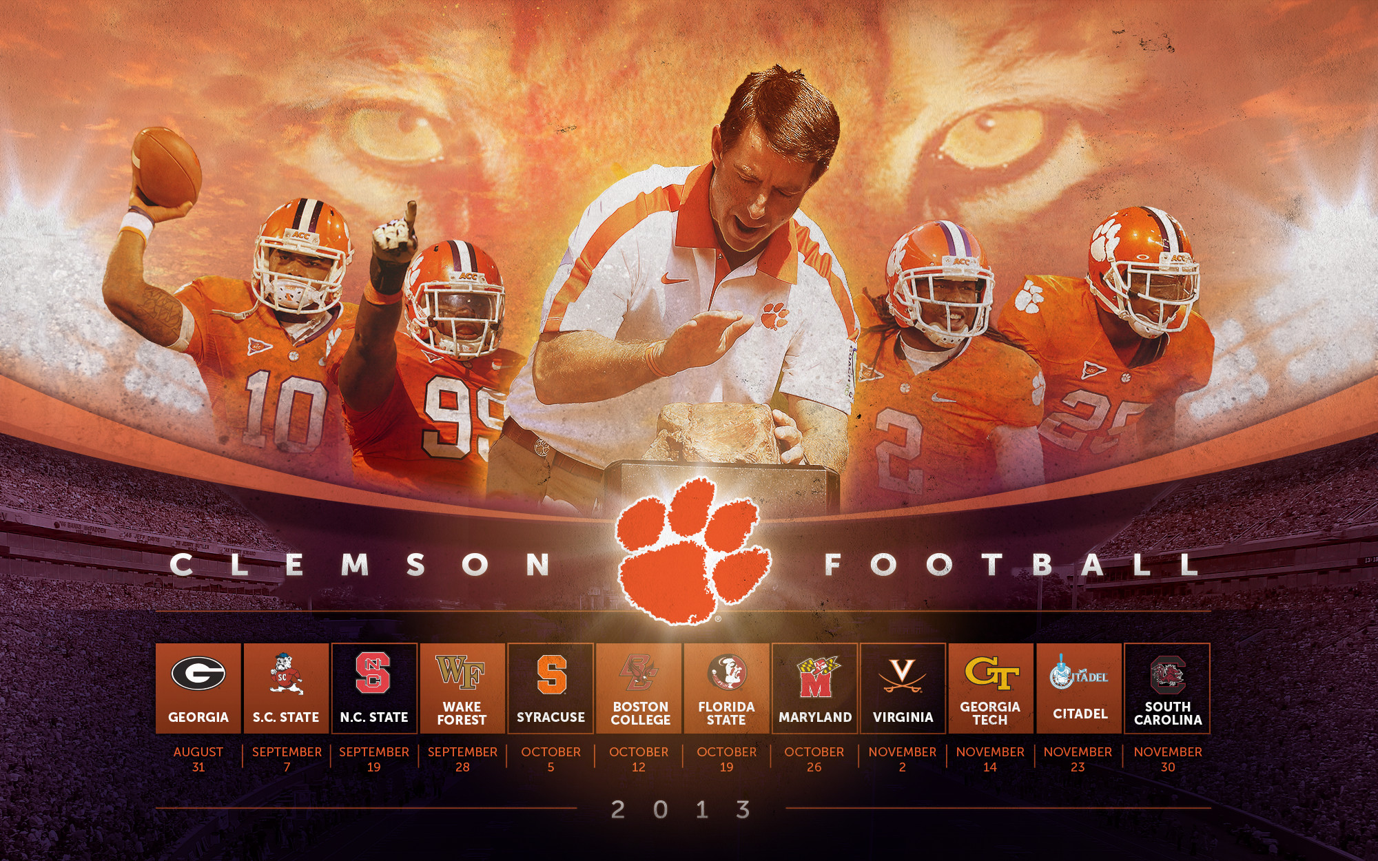 Clemson Tigers Wallpaper Images & Pictures – Becuo