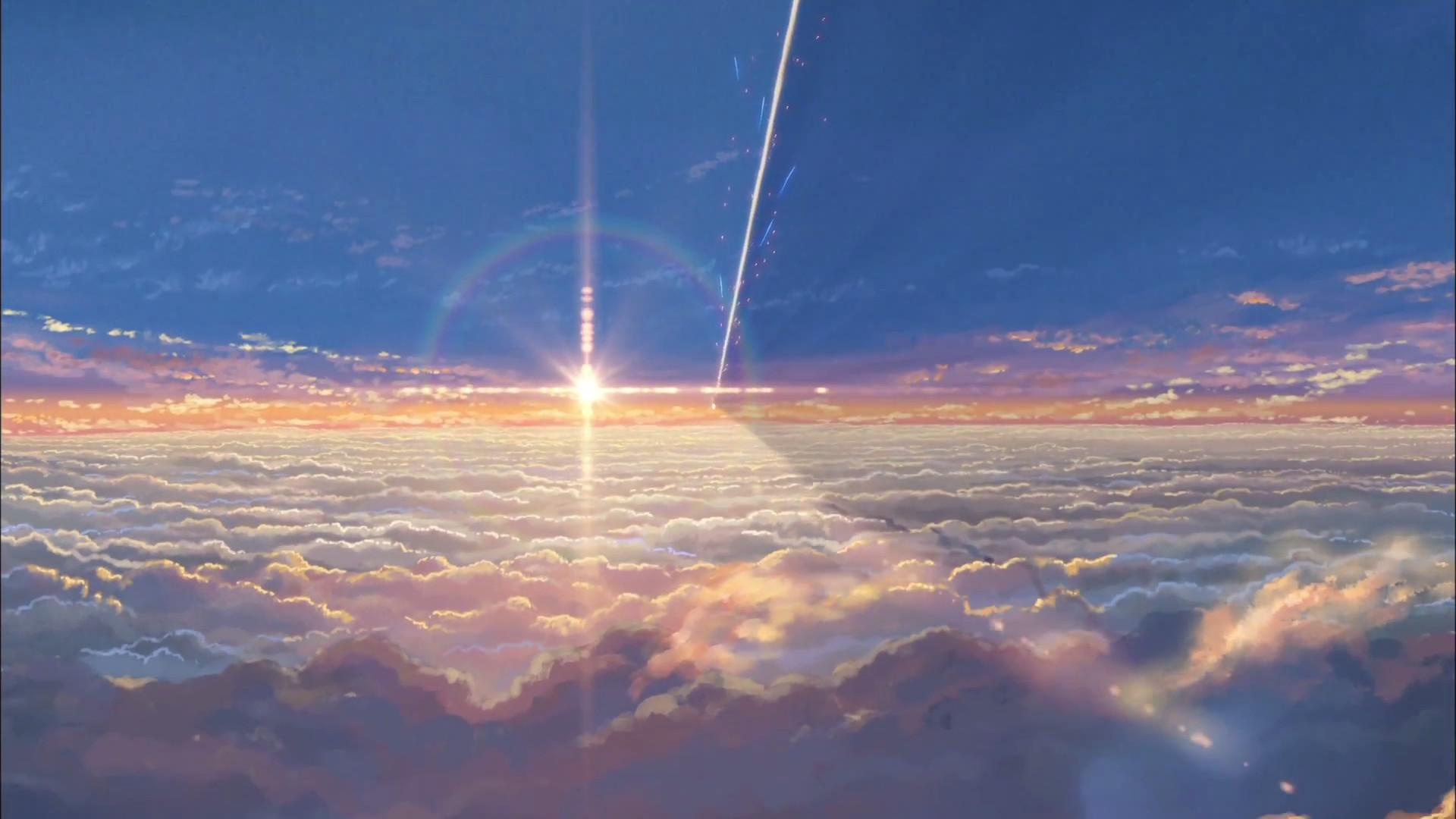Cloud Sunset Painting Wallpaper