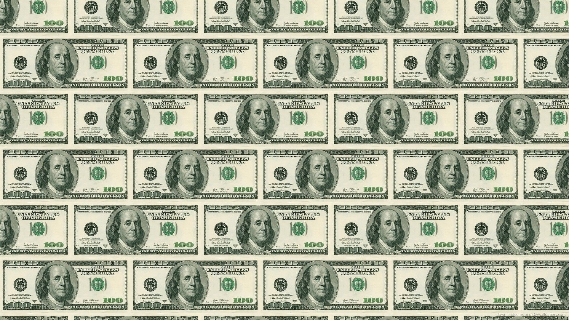 100 Dollar Bill Pattern Wallpaper For iPhone 4