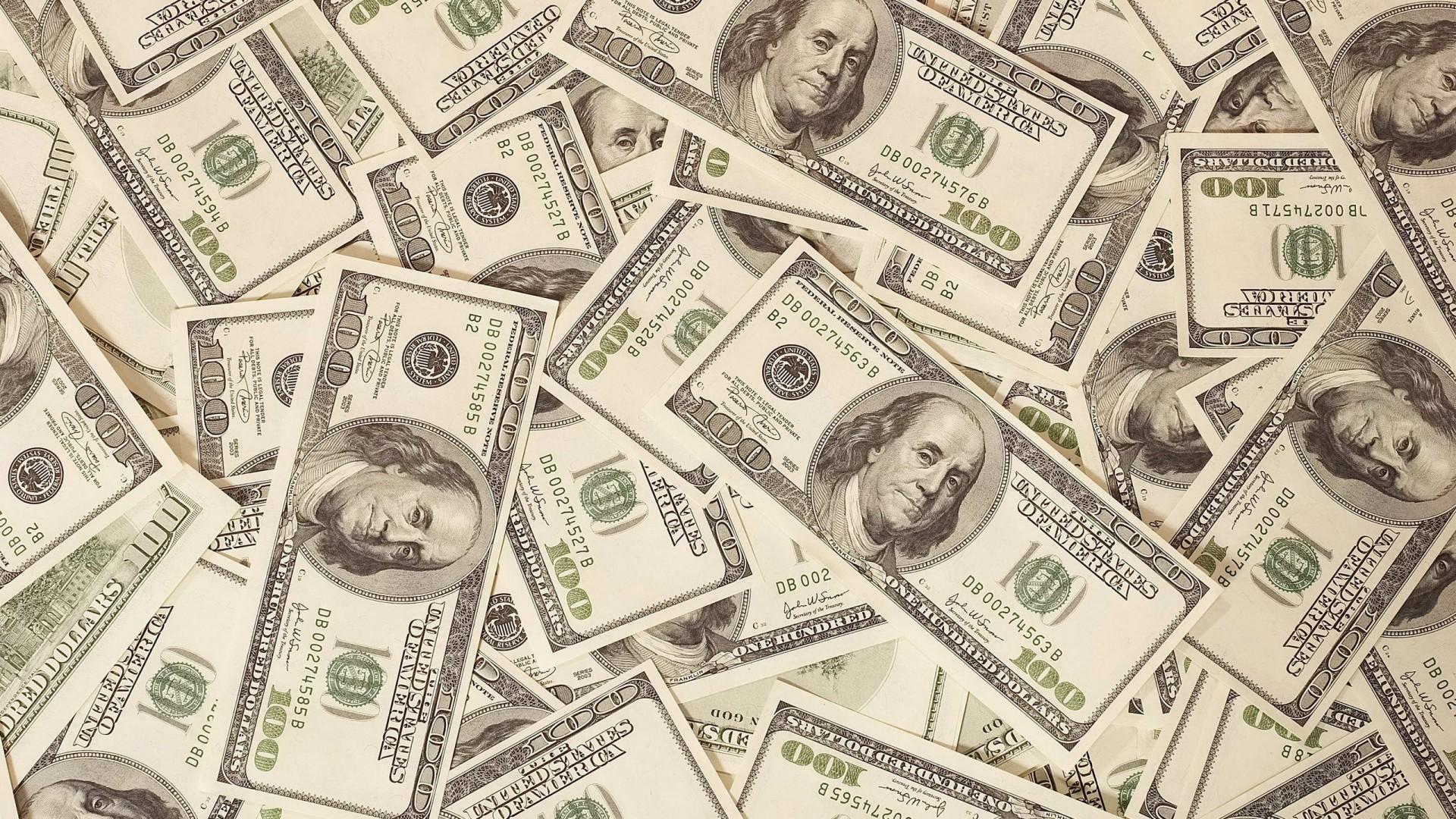 Preview wallpaper money, dollars, bills, background, surface 1920×1080