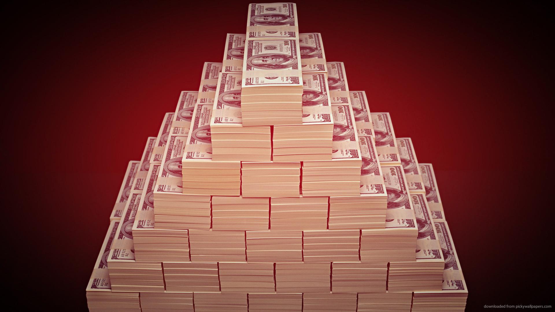 HD Stacks of 100 dollar bills wallpaper